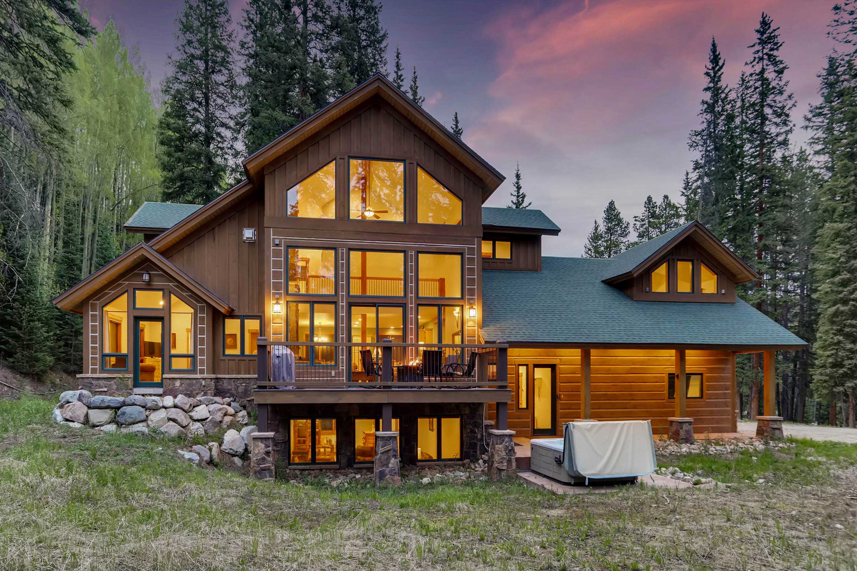 Step outside to take in the views of the National Forest!