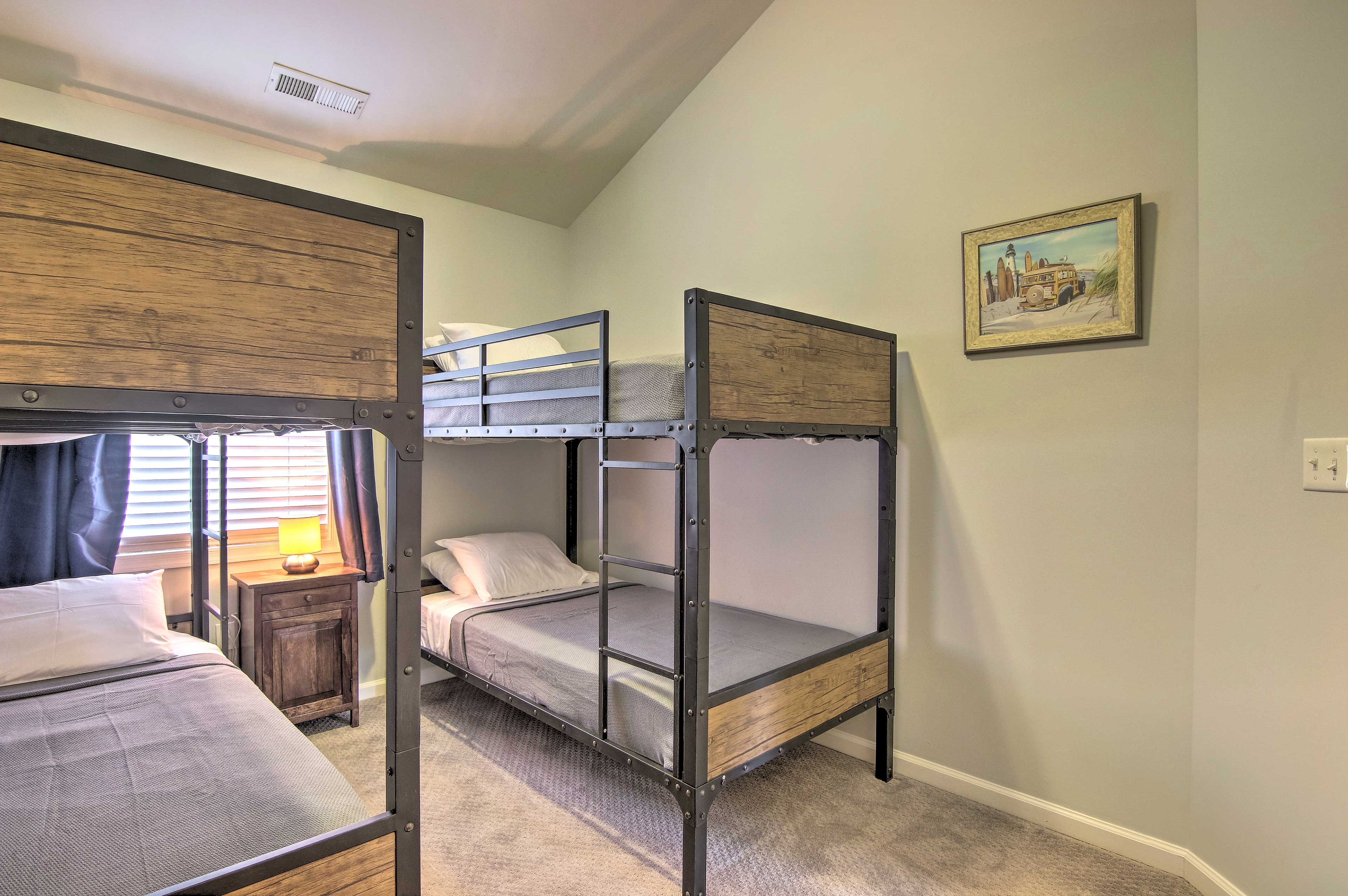 This bedroom offers a set of bunk beds.