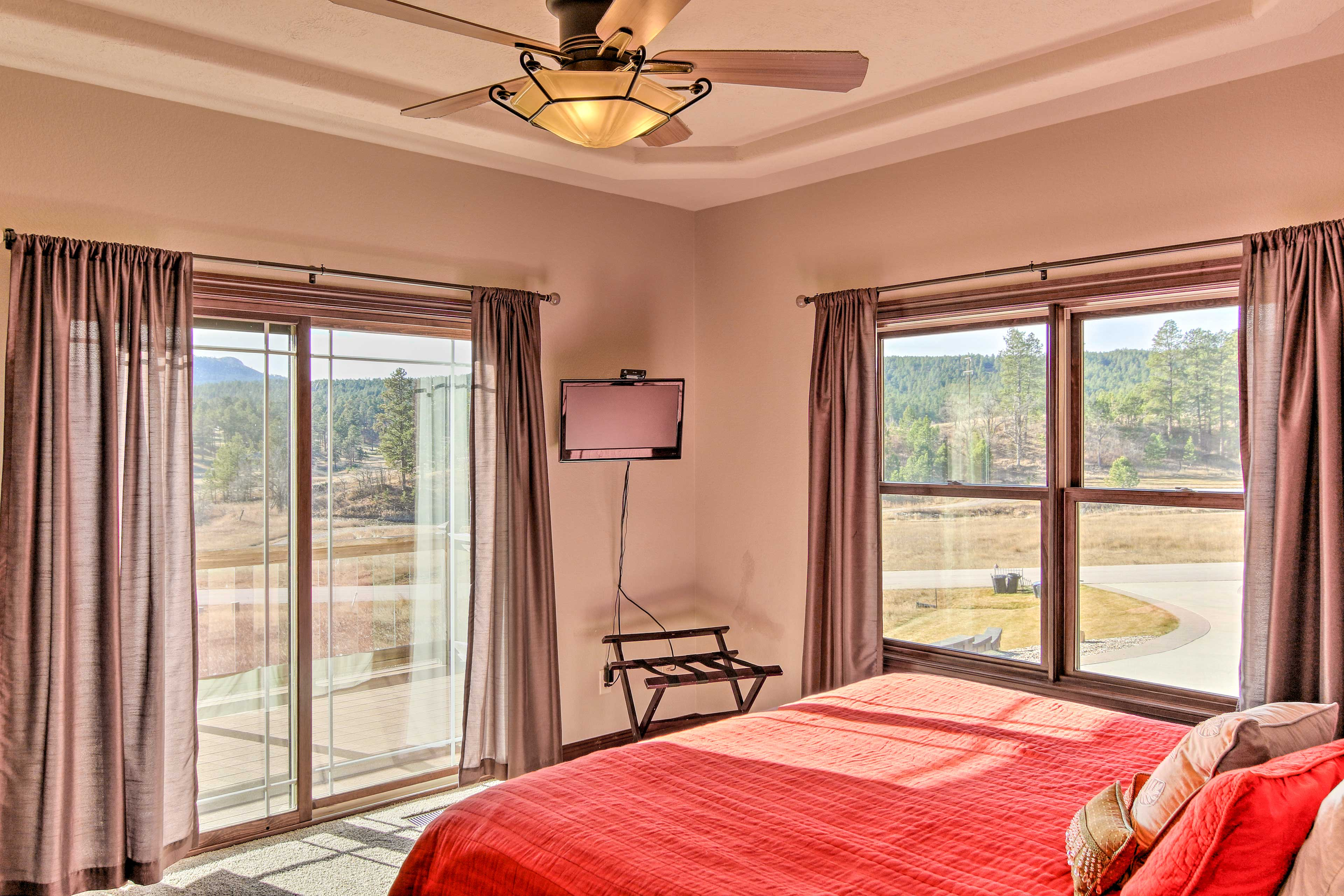 The home includes 5 bedrooms to comfortably accommodate friends and family!