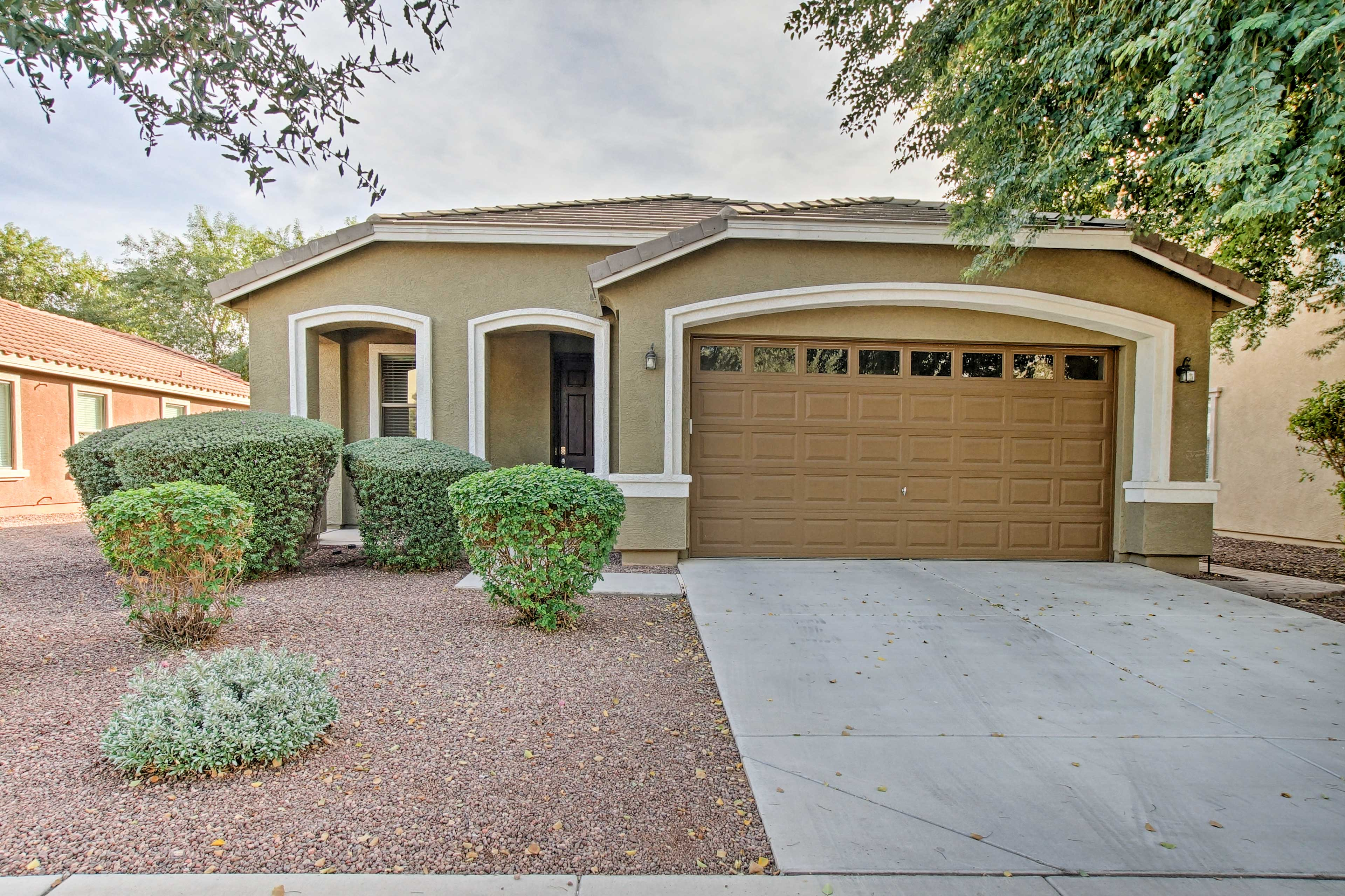 The Gilbert home is located in a quiet, family-friendly neighborhood.