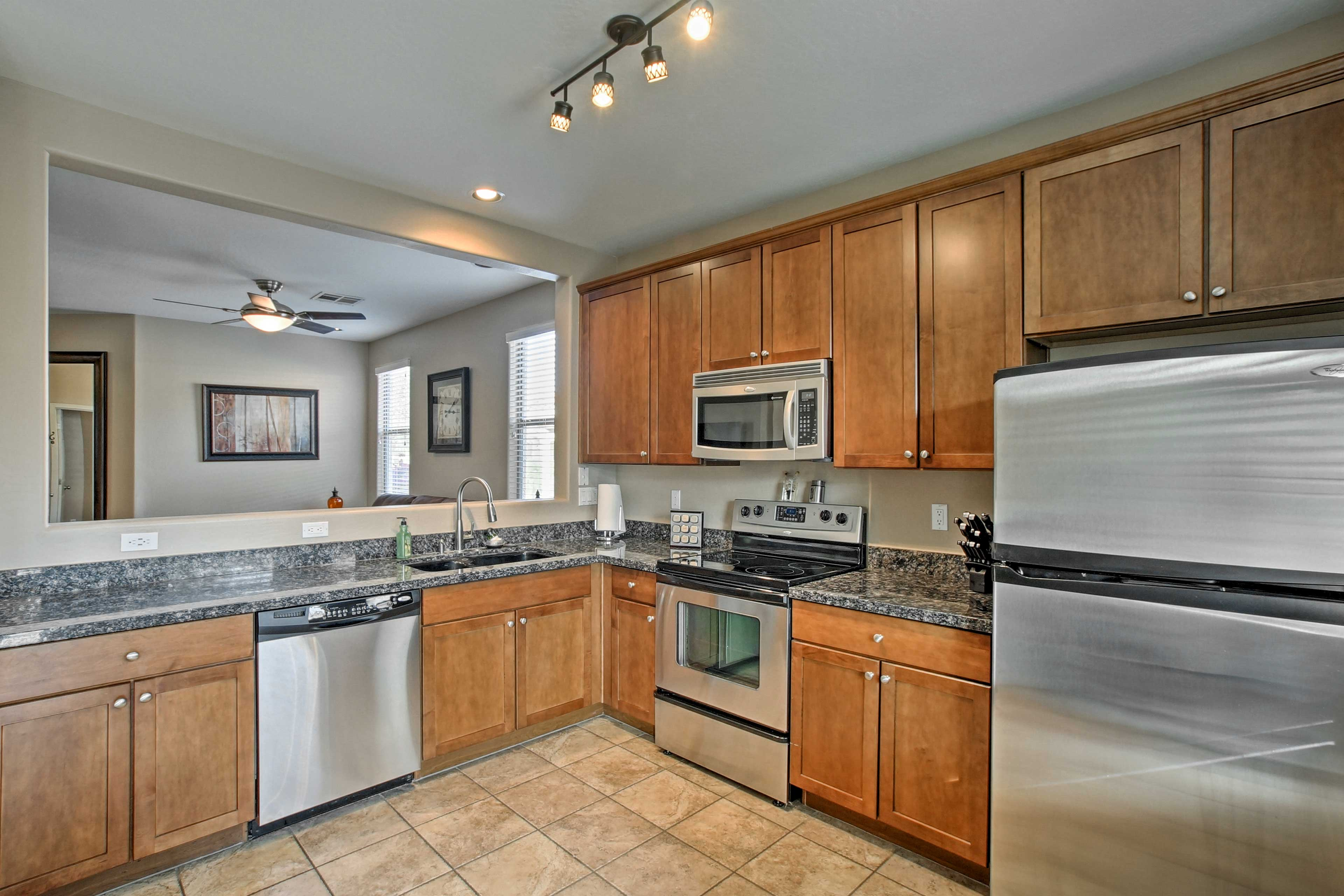 Cooking is a breeze with ample counter space!