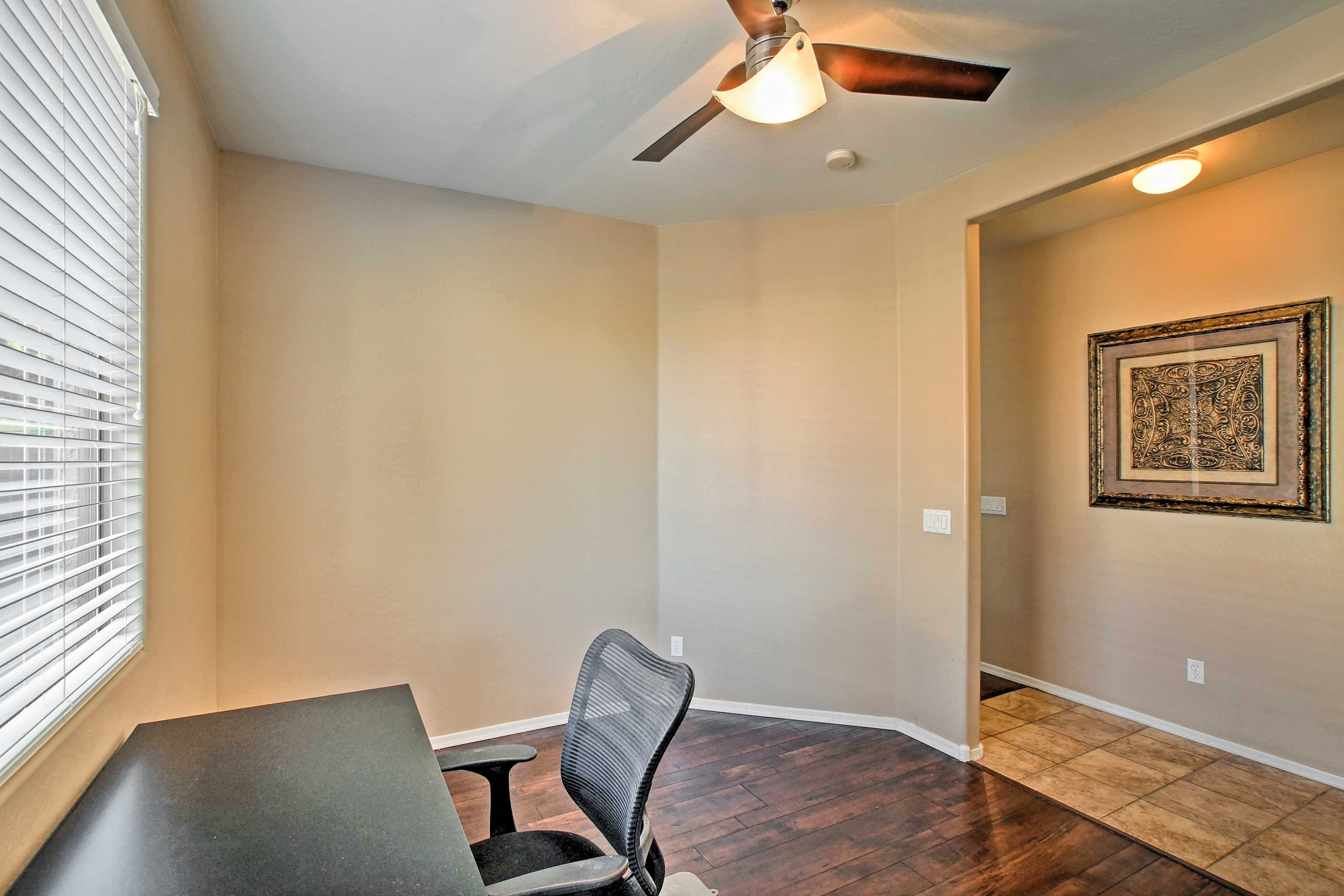 A spare office space can be used for any business needs.