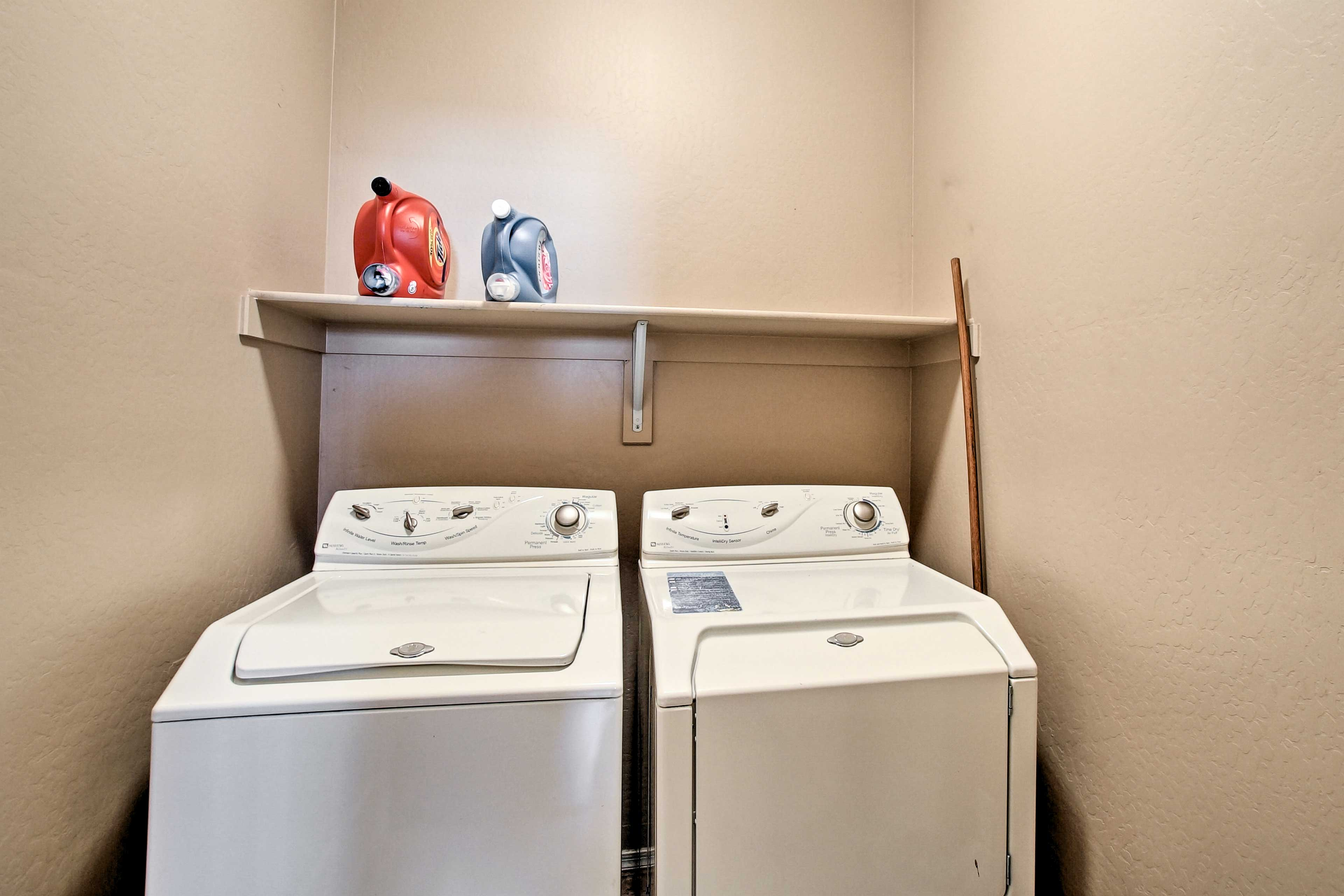 Laundry units add extra convenience to your stay.