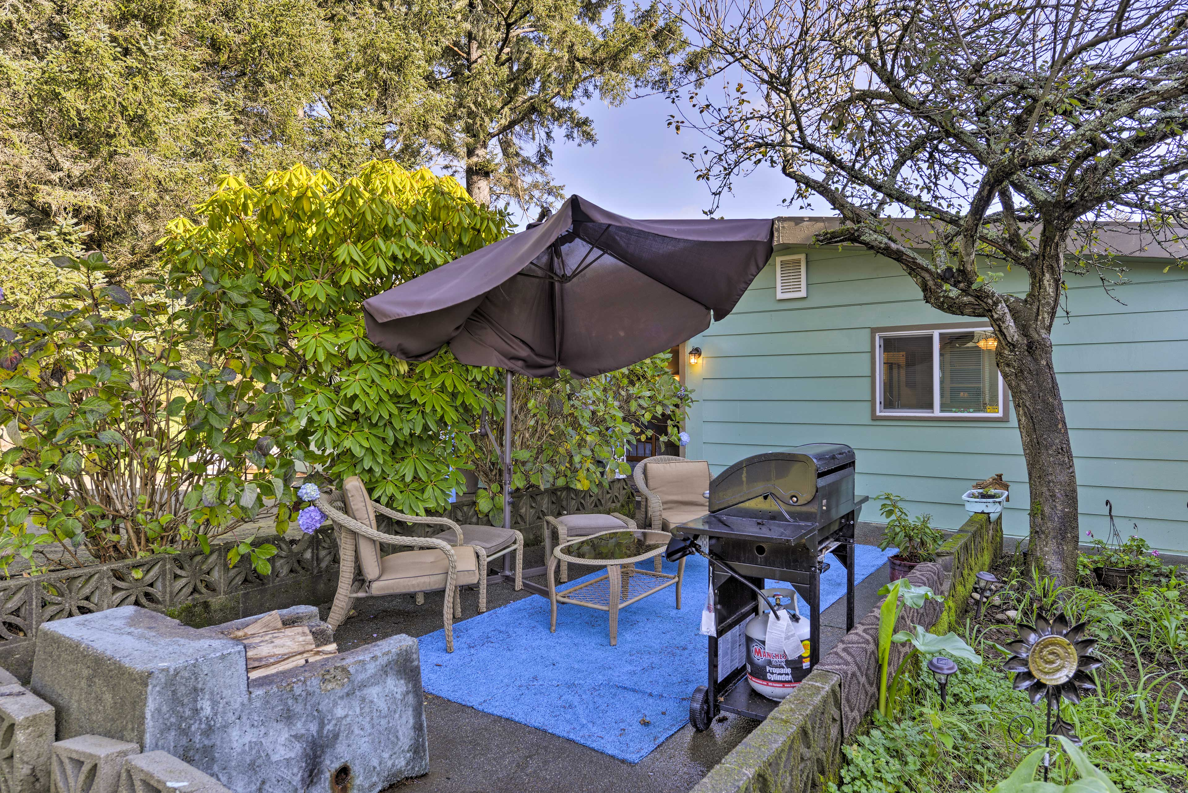 Fire up the grill on the shared patio space for a cookout!