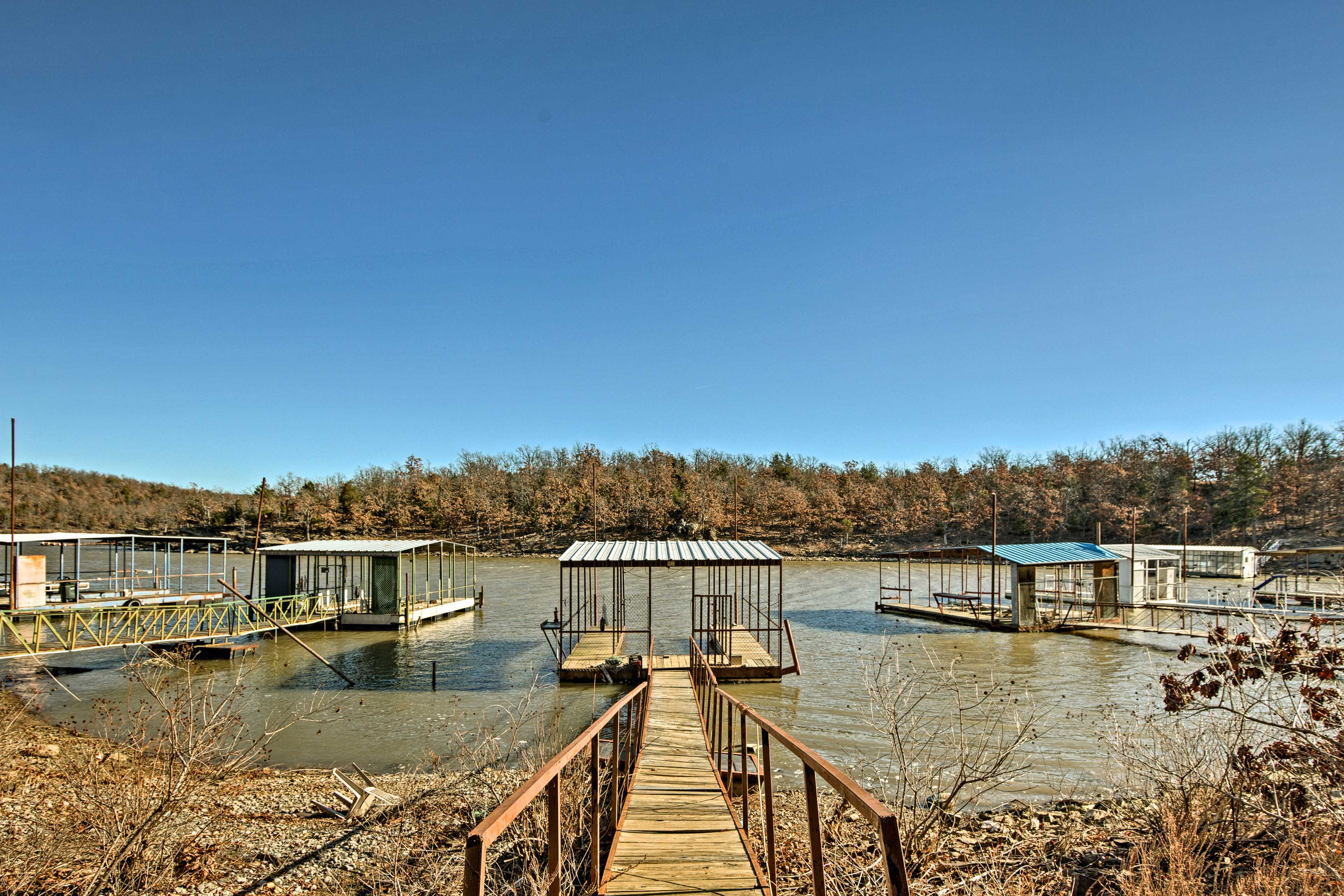 Park your boat at the private 16' x 32' boat slip.