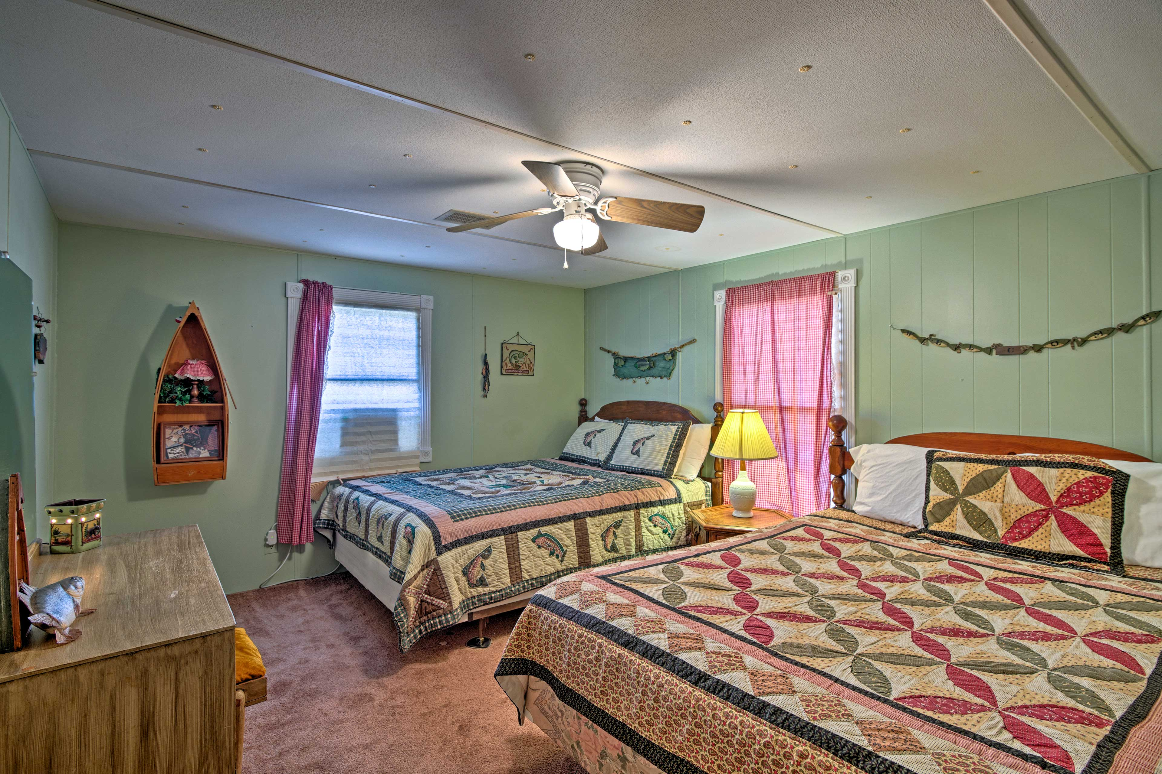 Two queen-sized beds make this room perfect for siblings or friends to share.