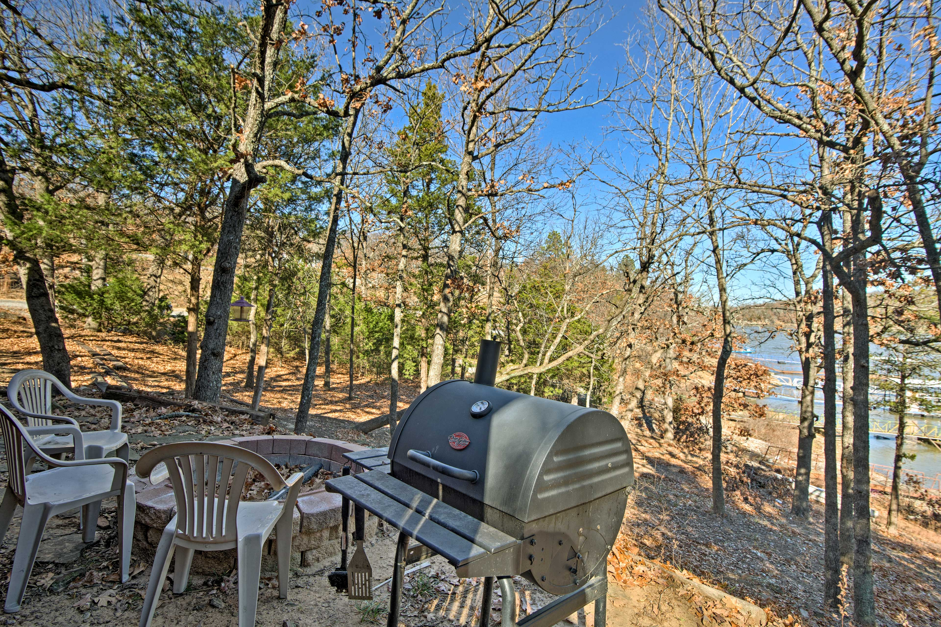Grill up a tasty meal or gather around the fire pit to roast marshmallows!