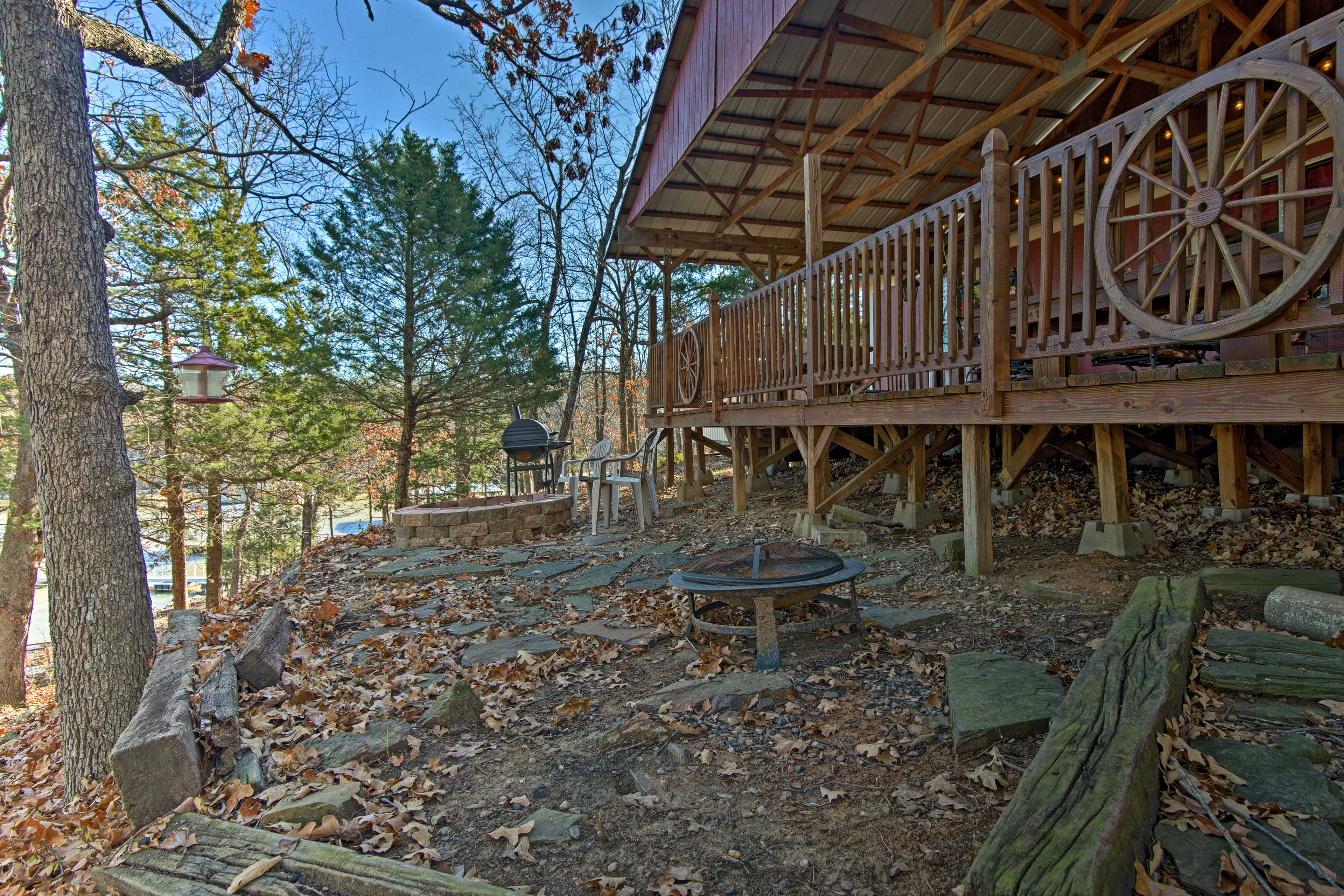 You'll love the wooded surroundings.