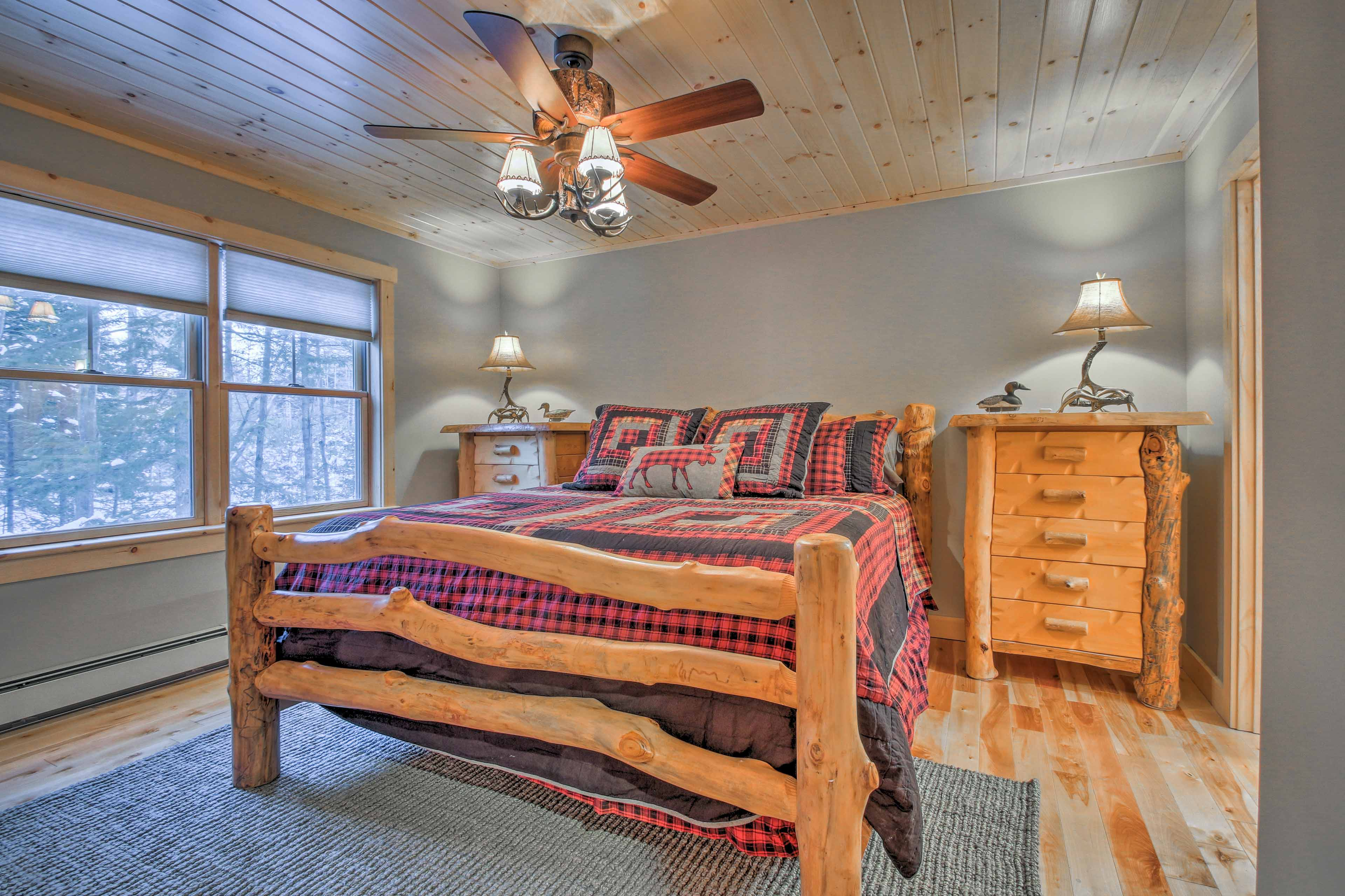 This 1,800-square-foot cabin offers 3 spacious bedrooms and a loft!