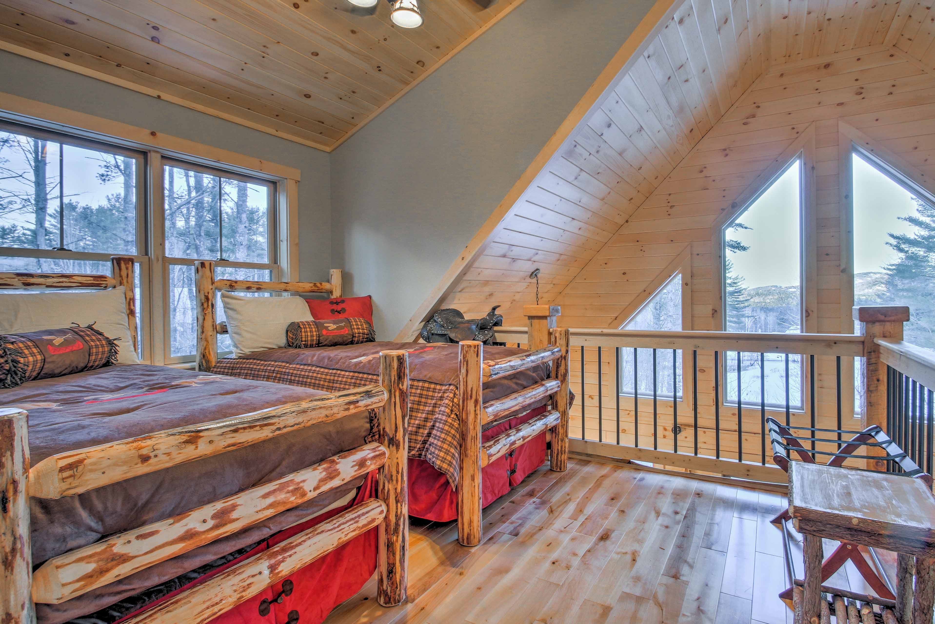 Kids will love this unique lofted space!