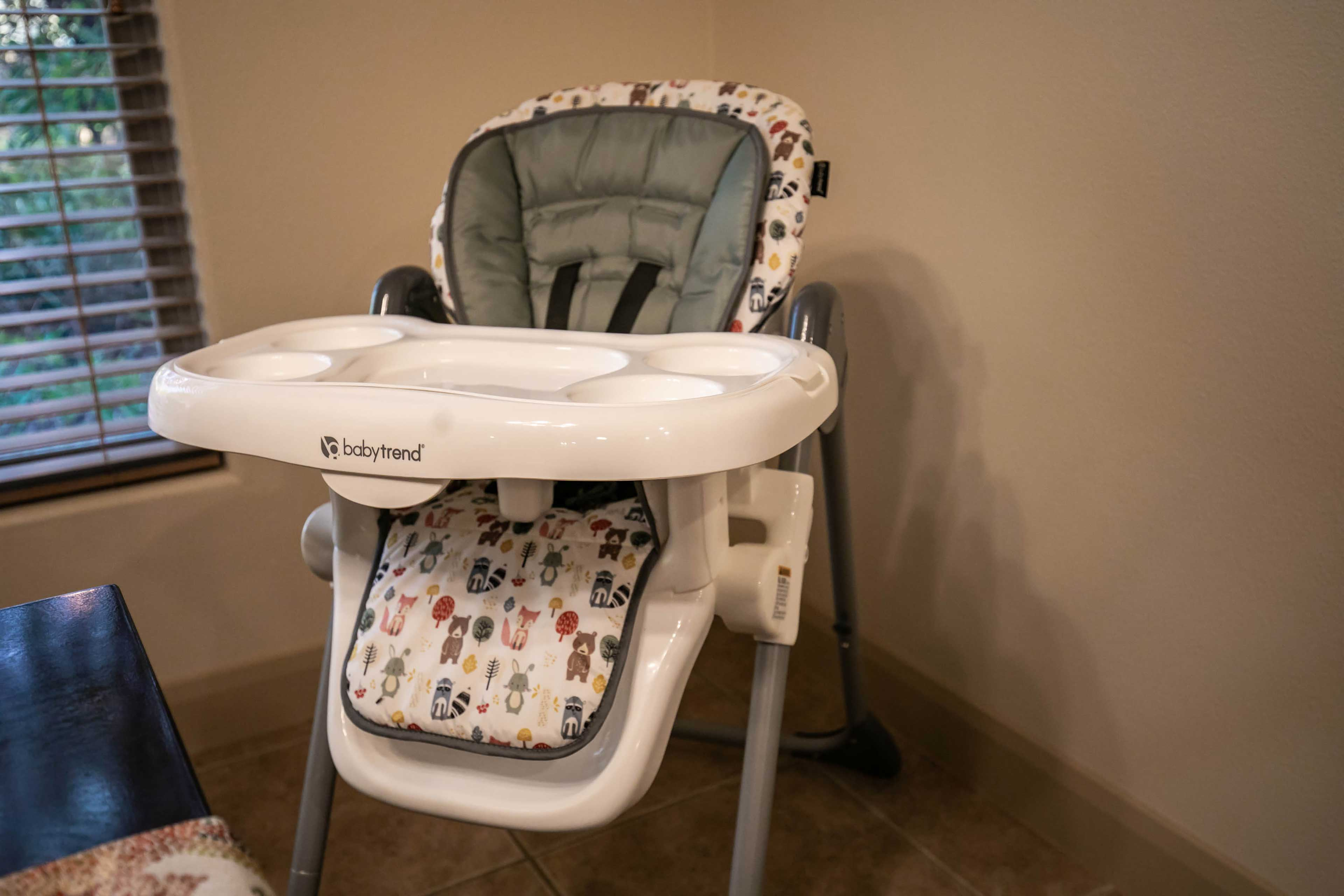 A high chair is provided for any little ones in the group.