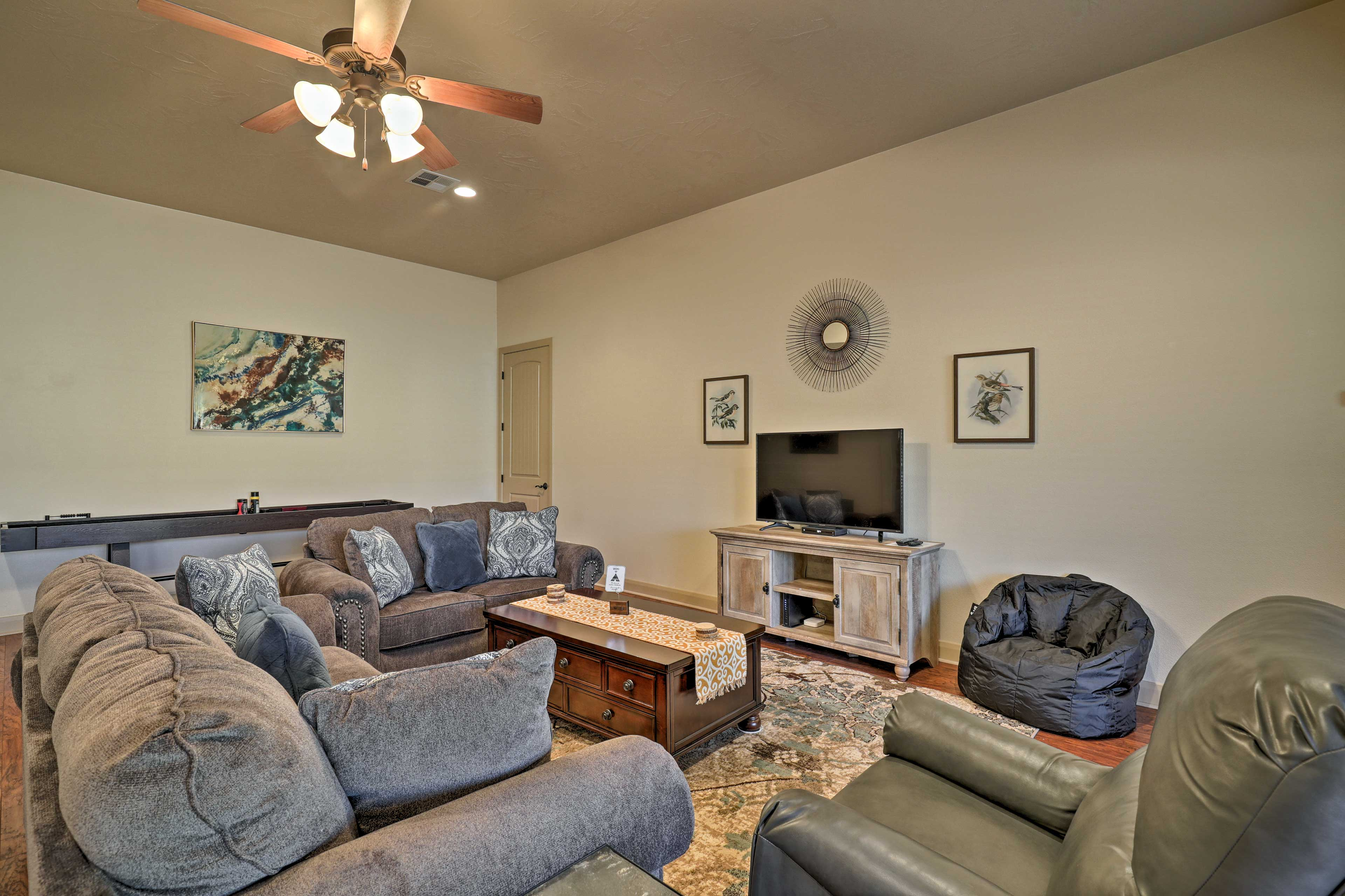 With 3 bedrooms and 2 bathrooms, this home accommodates 8.