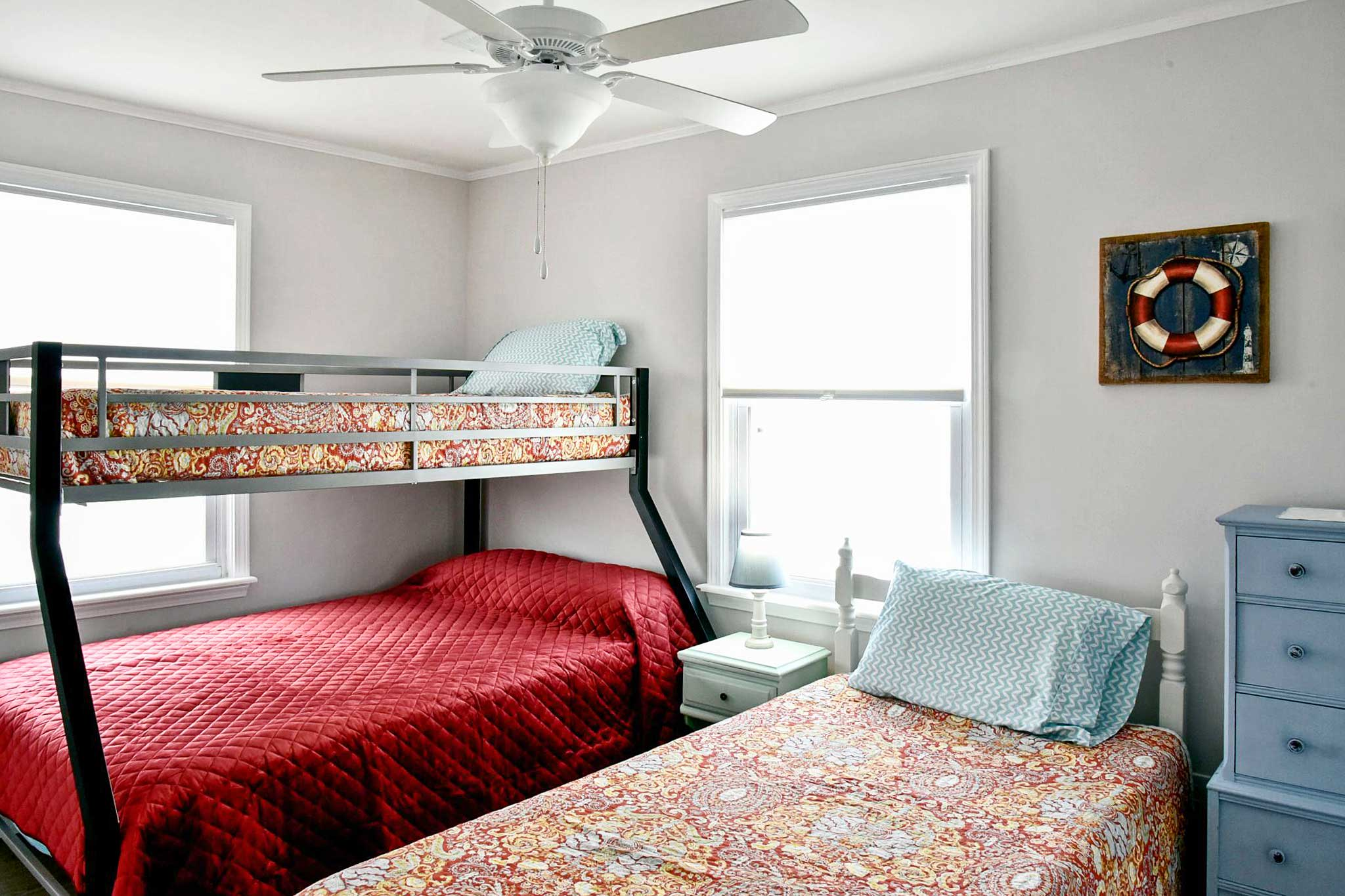 Kids will love sharing this bunk room!
