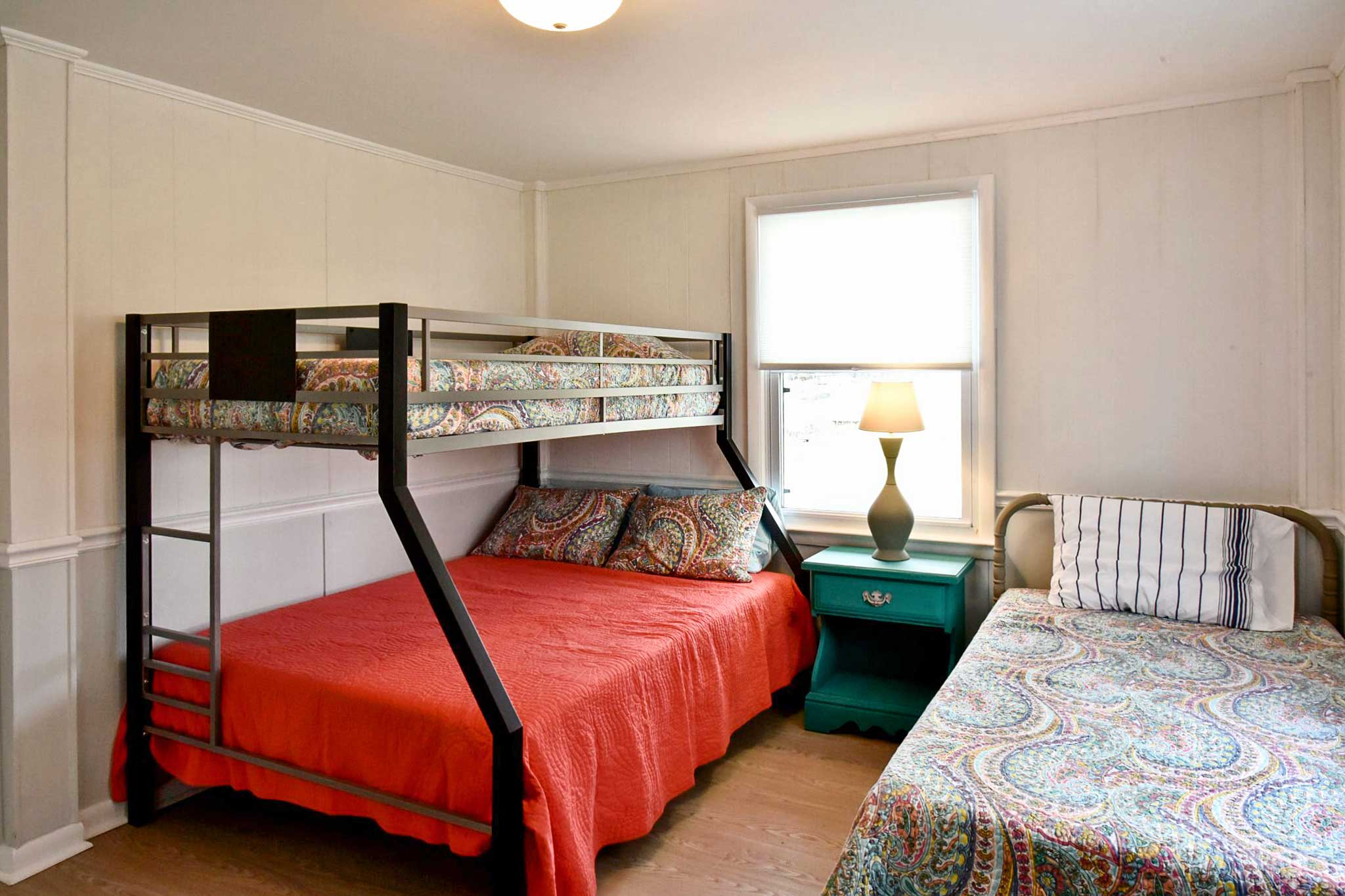 The kids are sure to fall fast asleep in the twin-over-full bunk bed.