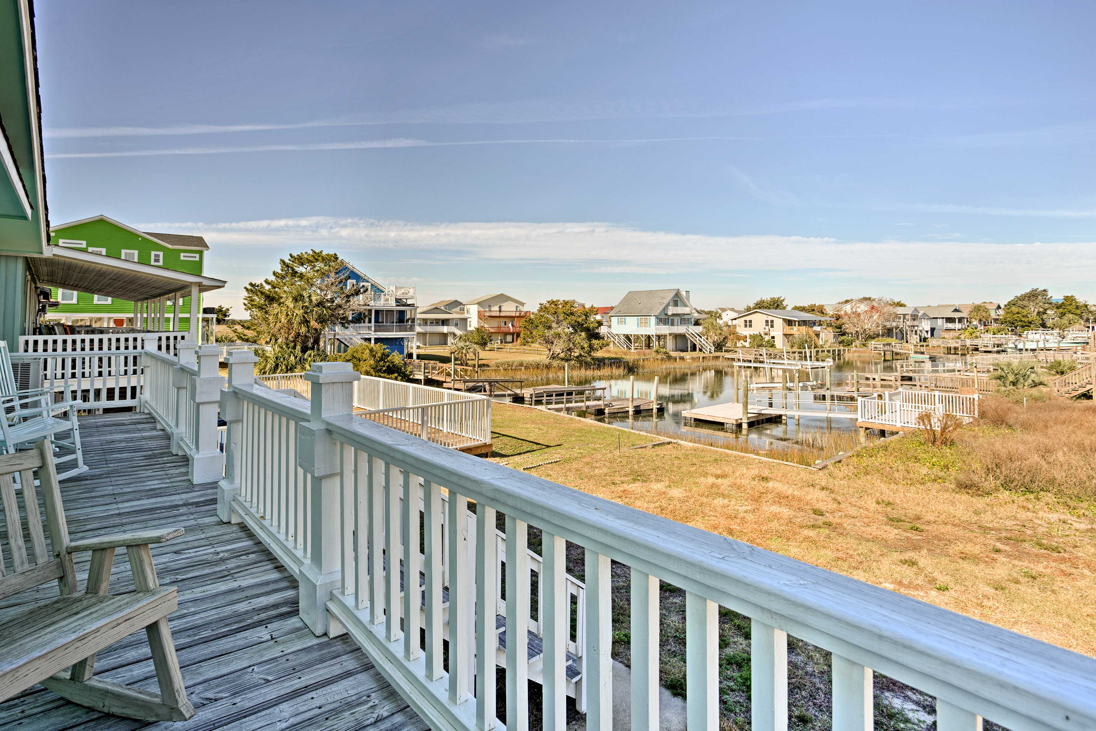 'Eye Sea Blue' is a 2-story home located across the street from the shore!