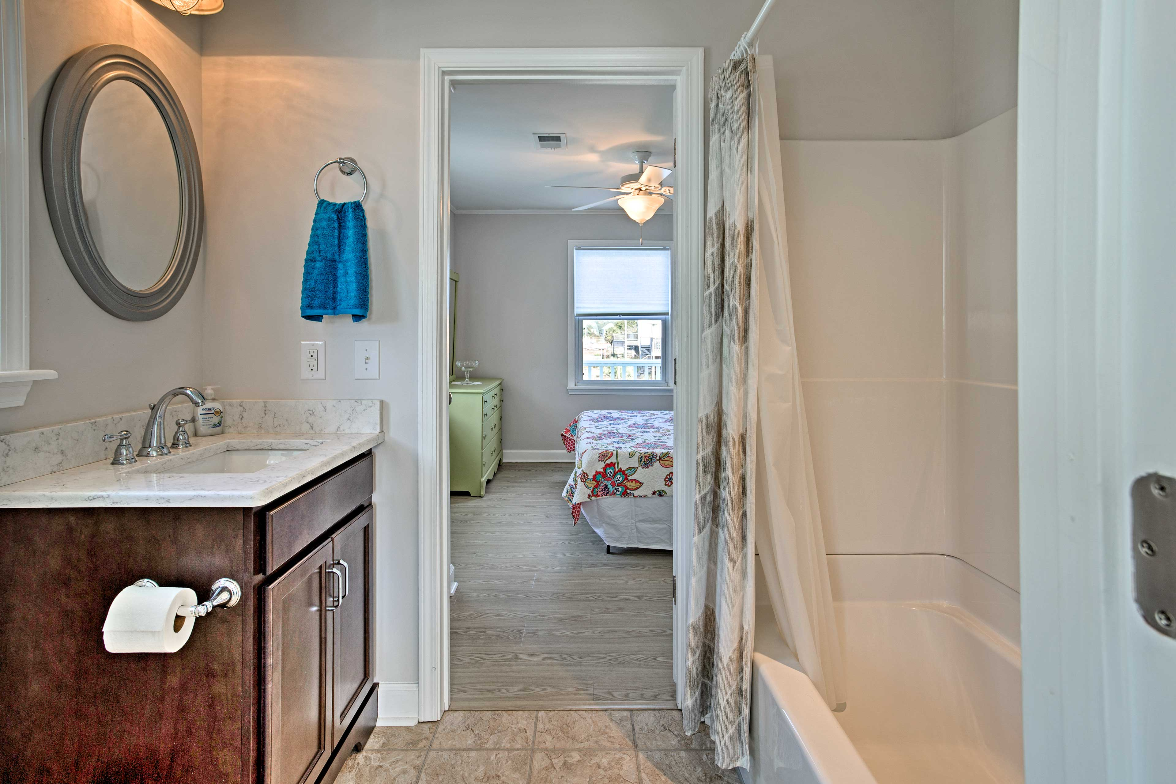 This home boasts 4 bathrooms, all complete with shower/tub combos.