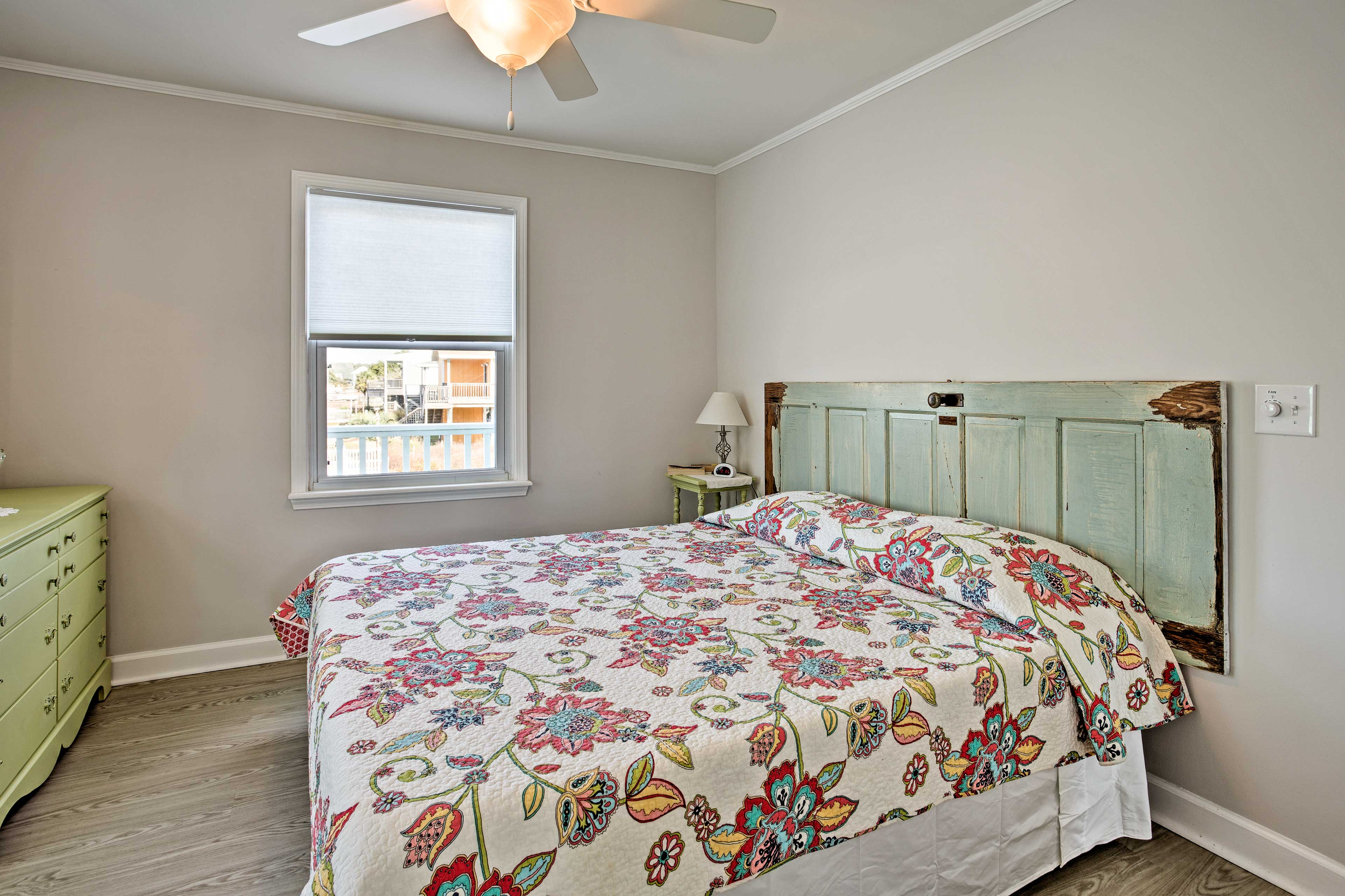 Another king bed highlights this second bedroom.