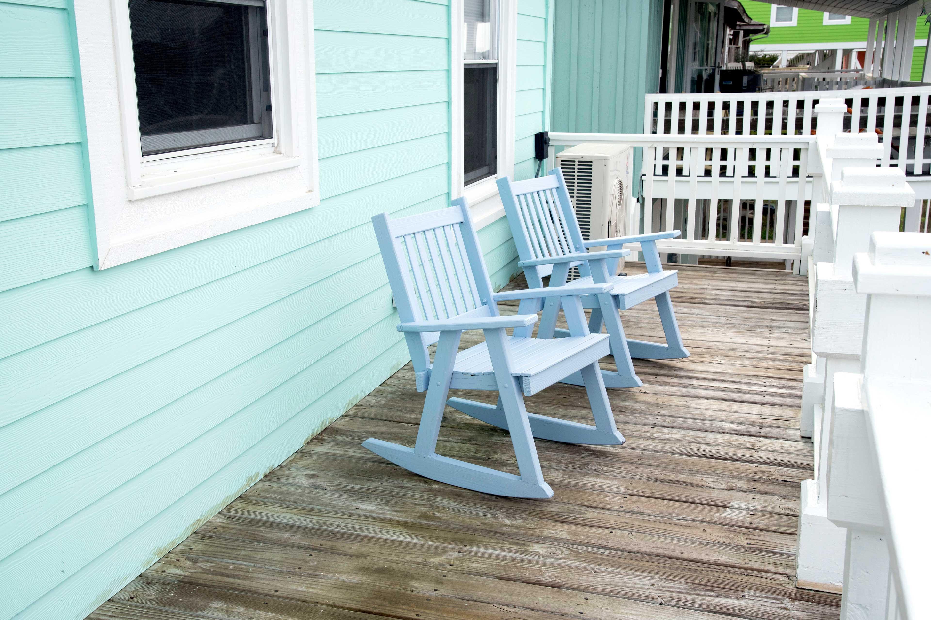 Soak up the sunshine on the porch.