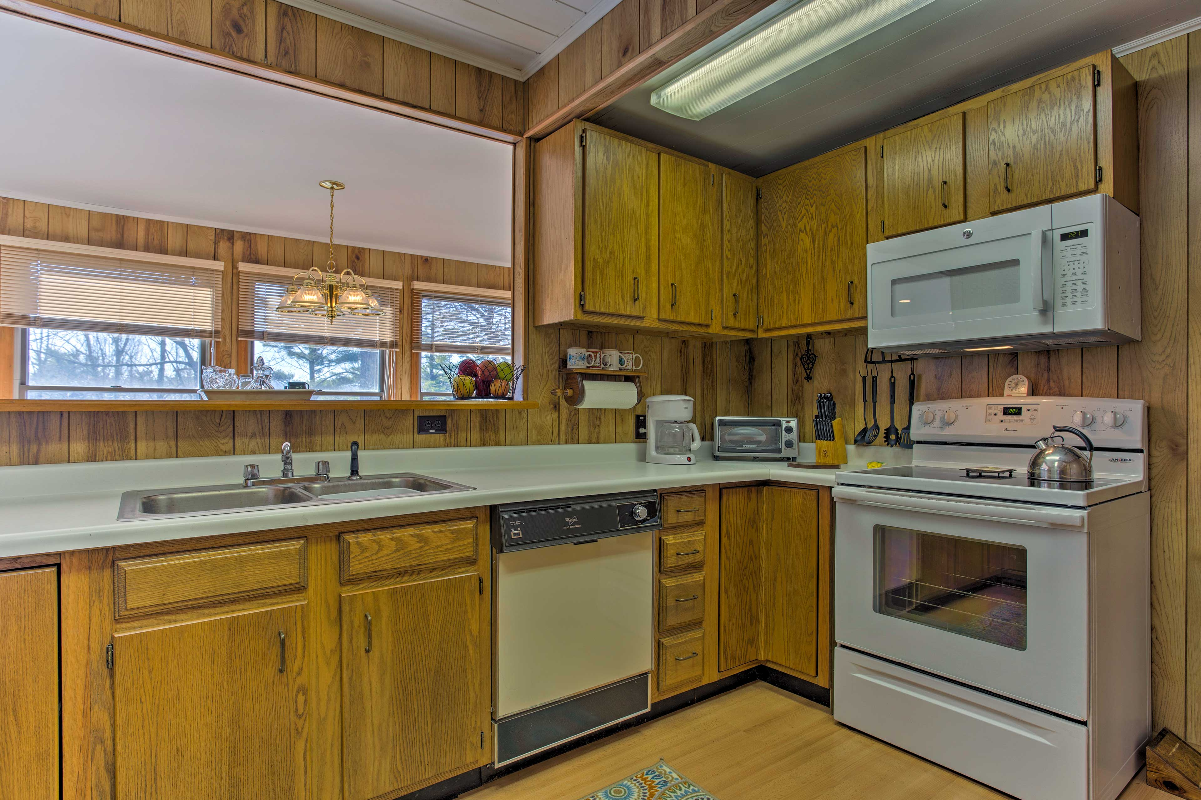 The kitchen is fully equipped with updated appliances and ample counterspace.