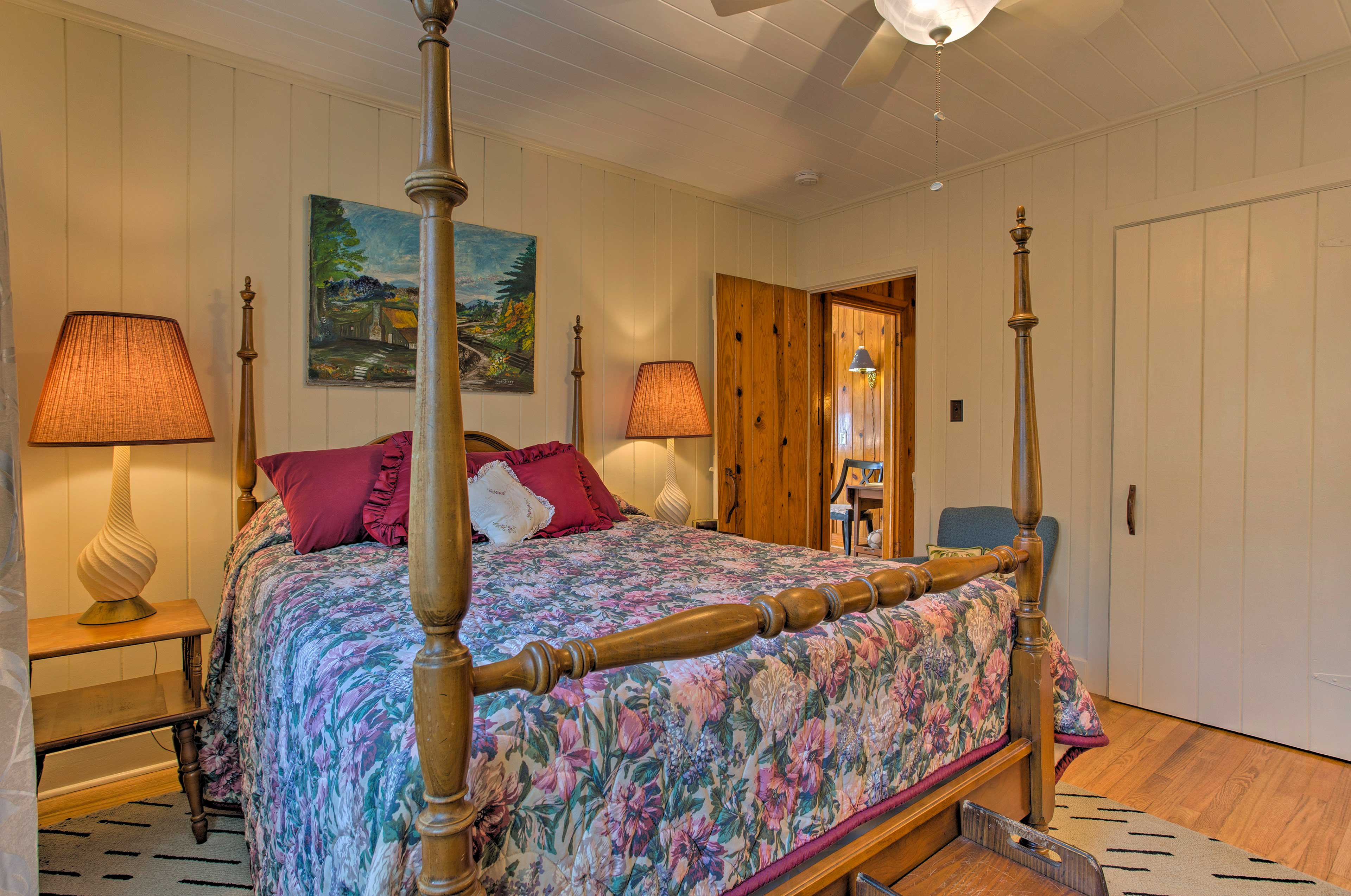 Rest easy on the king bed in the master bedroom.