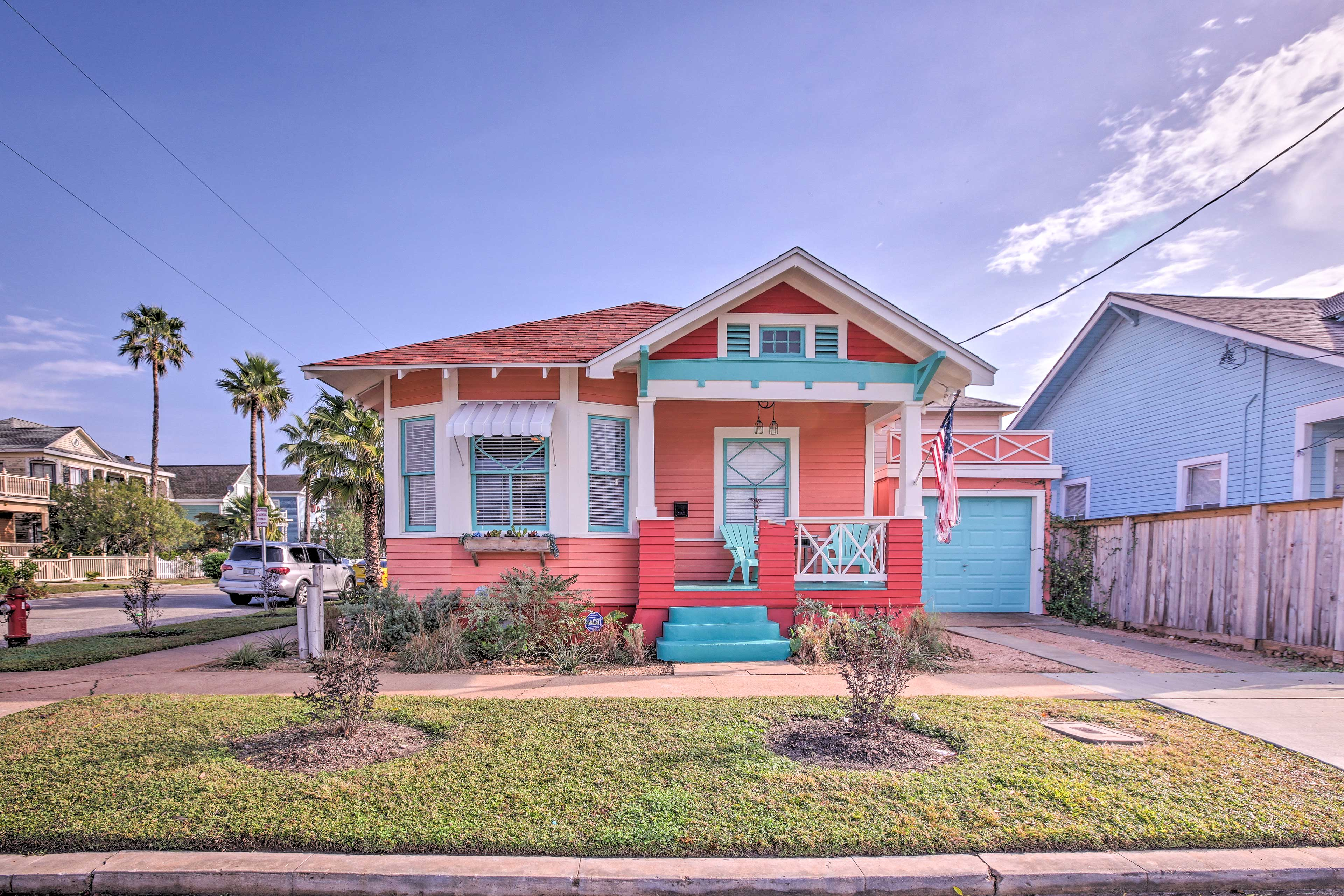Stay at 'Rose's Beach House,' a 2-bedroom, 2-bathroom vacation rental home.