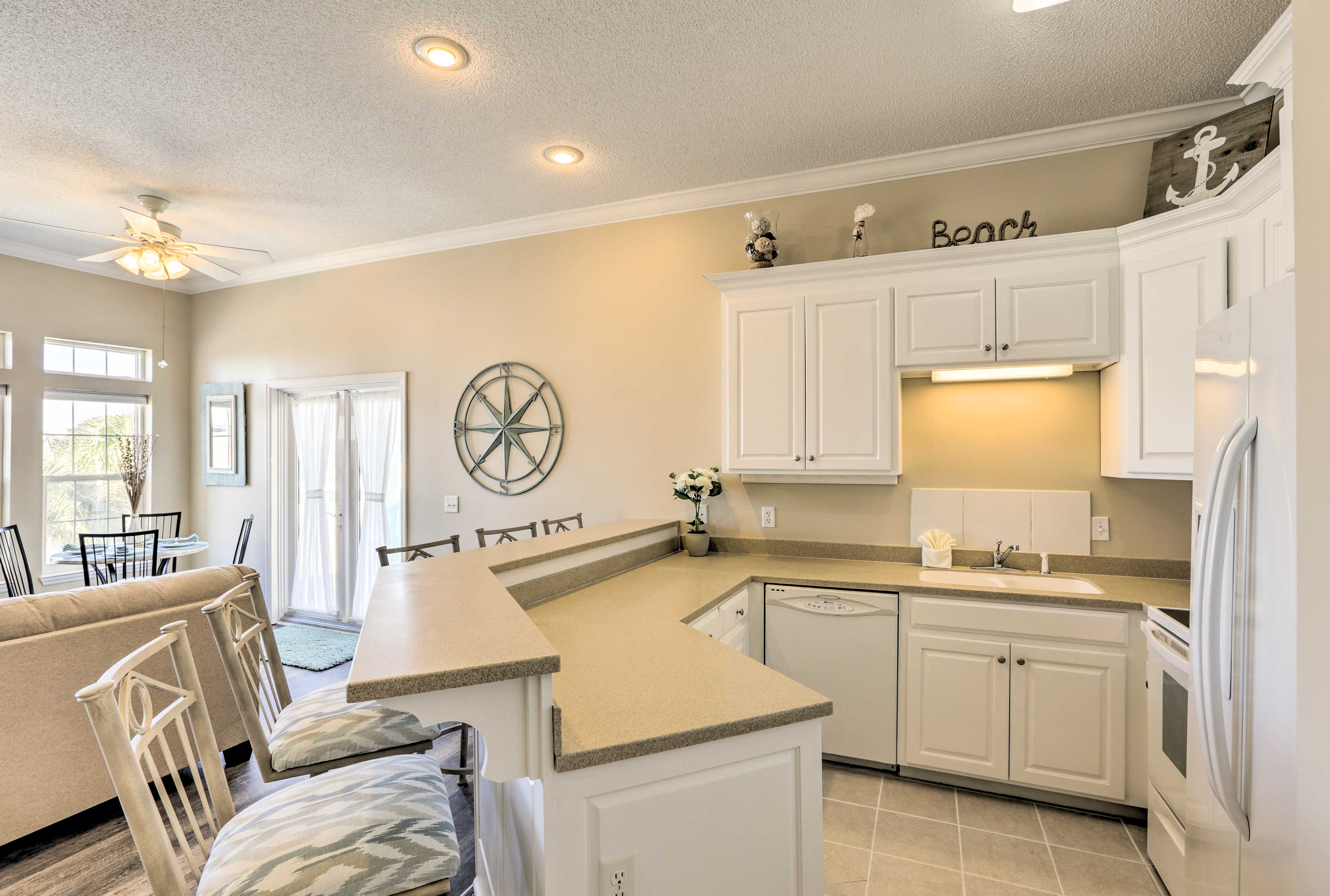 Whip up a 5-star meal in the spacious fully equipped kitchen.