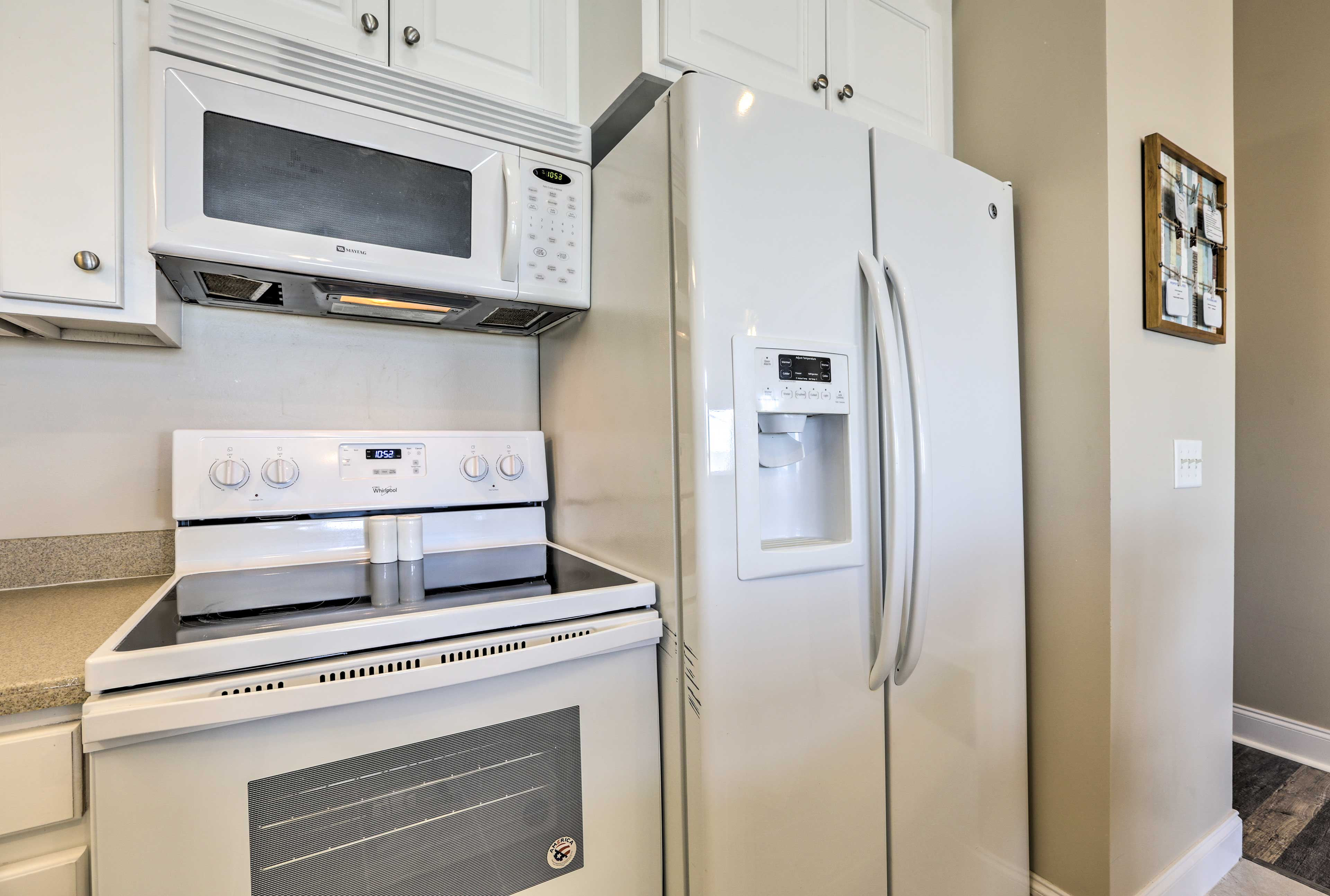 Top-of-the-line appliances make cooking for large groups a breeze.