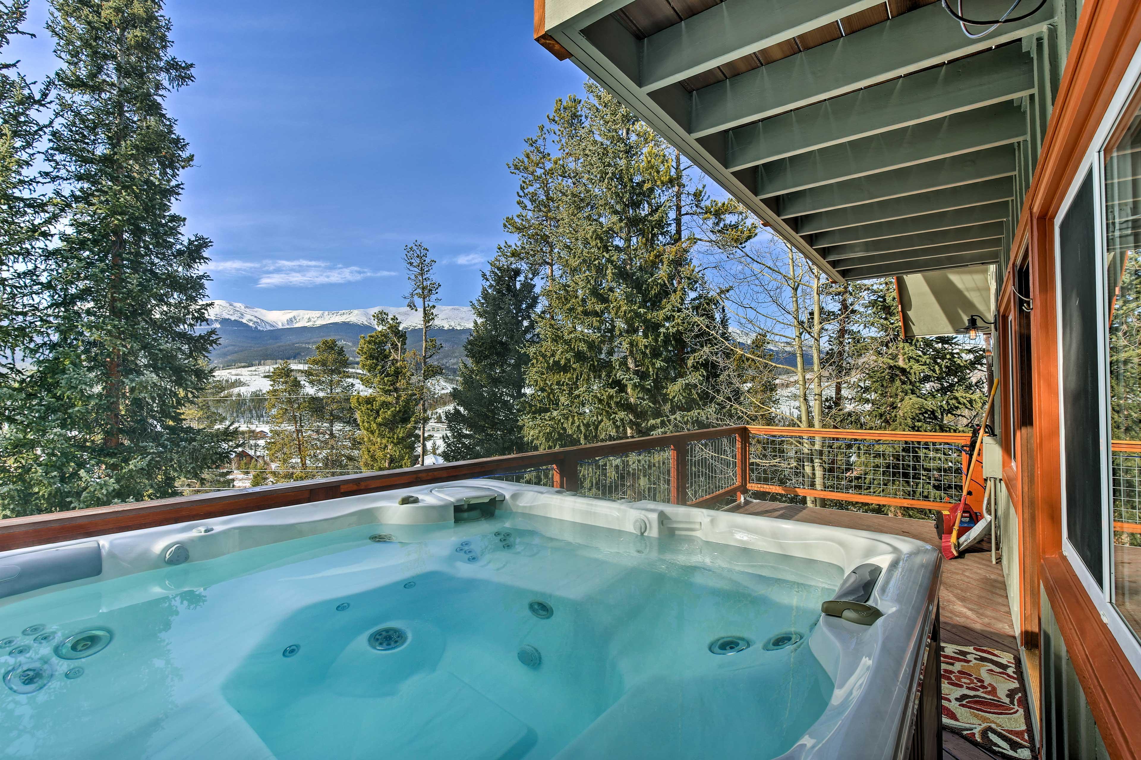 Deck | Private Hot Tub | Mountain Views
