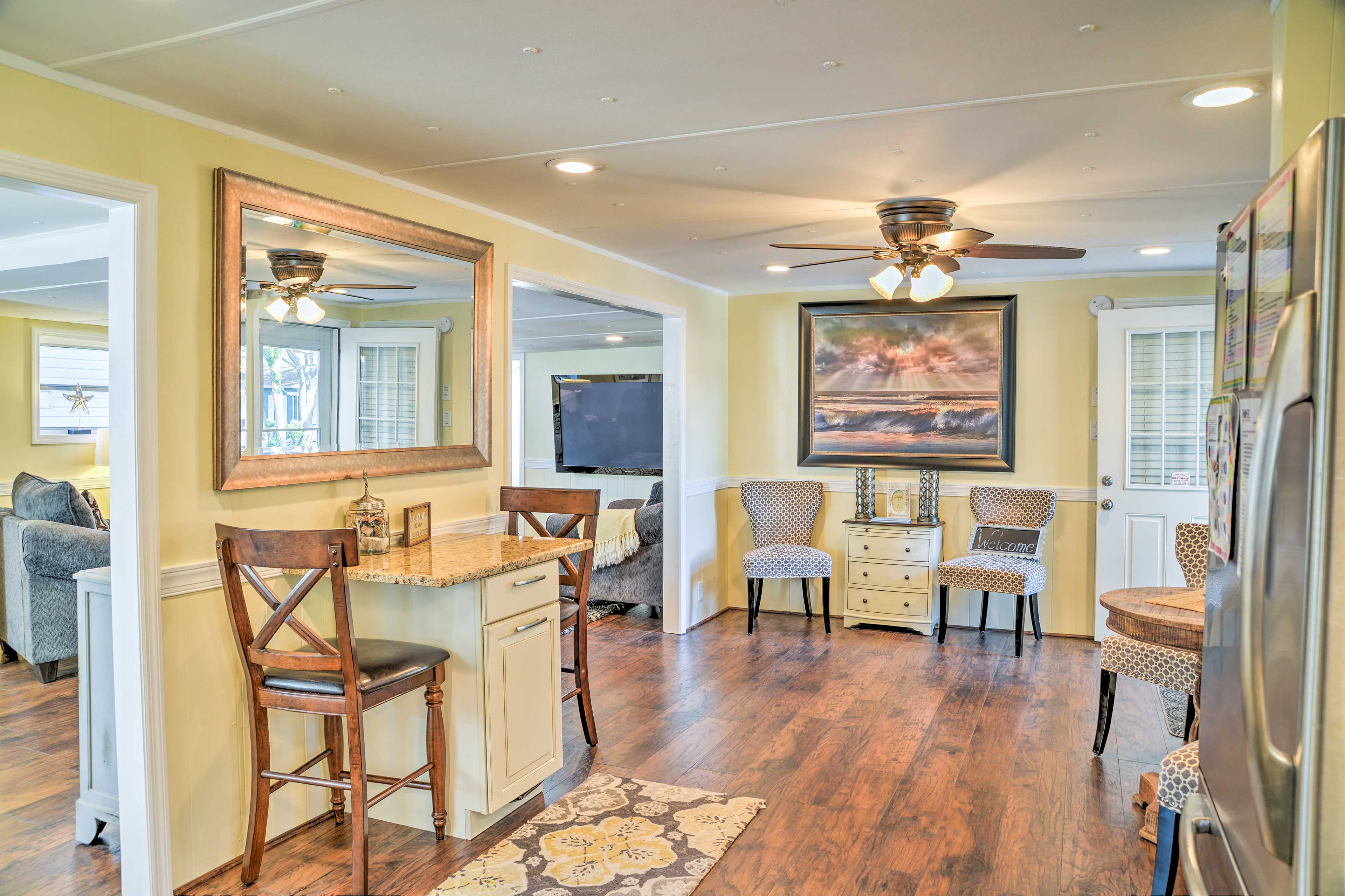 This home features 1,400 square feet of well-appointed living space.