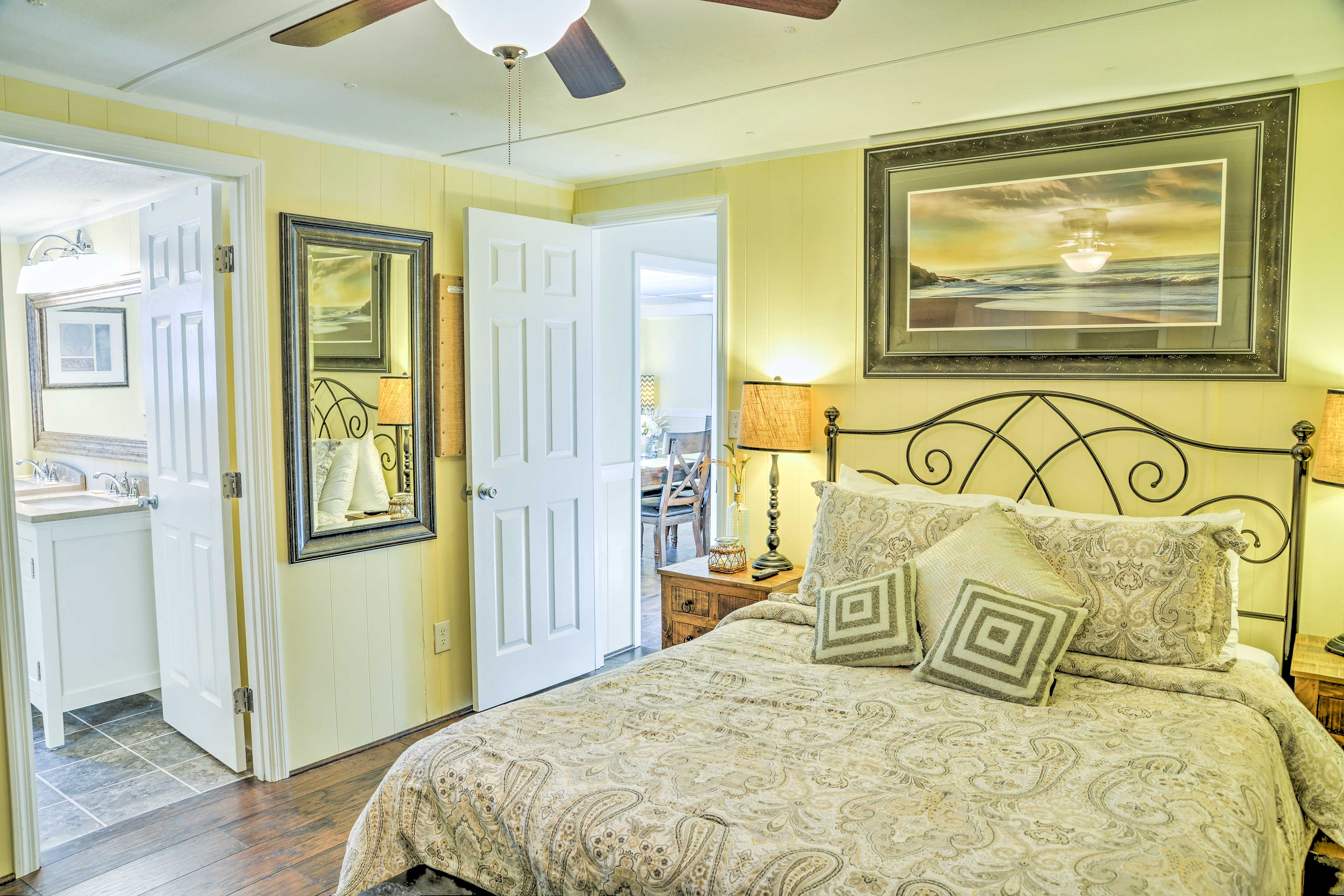 You'll find comfortable queen beds in each of the bedrooms.