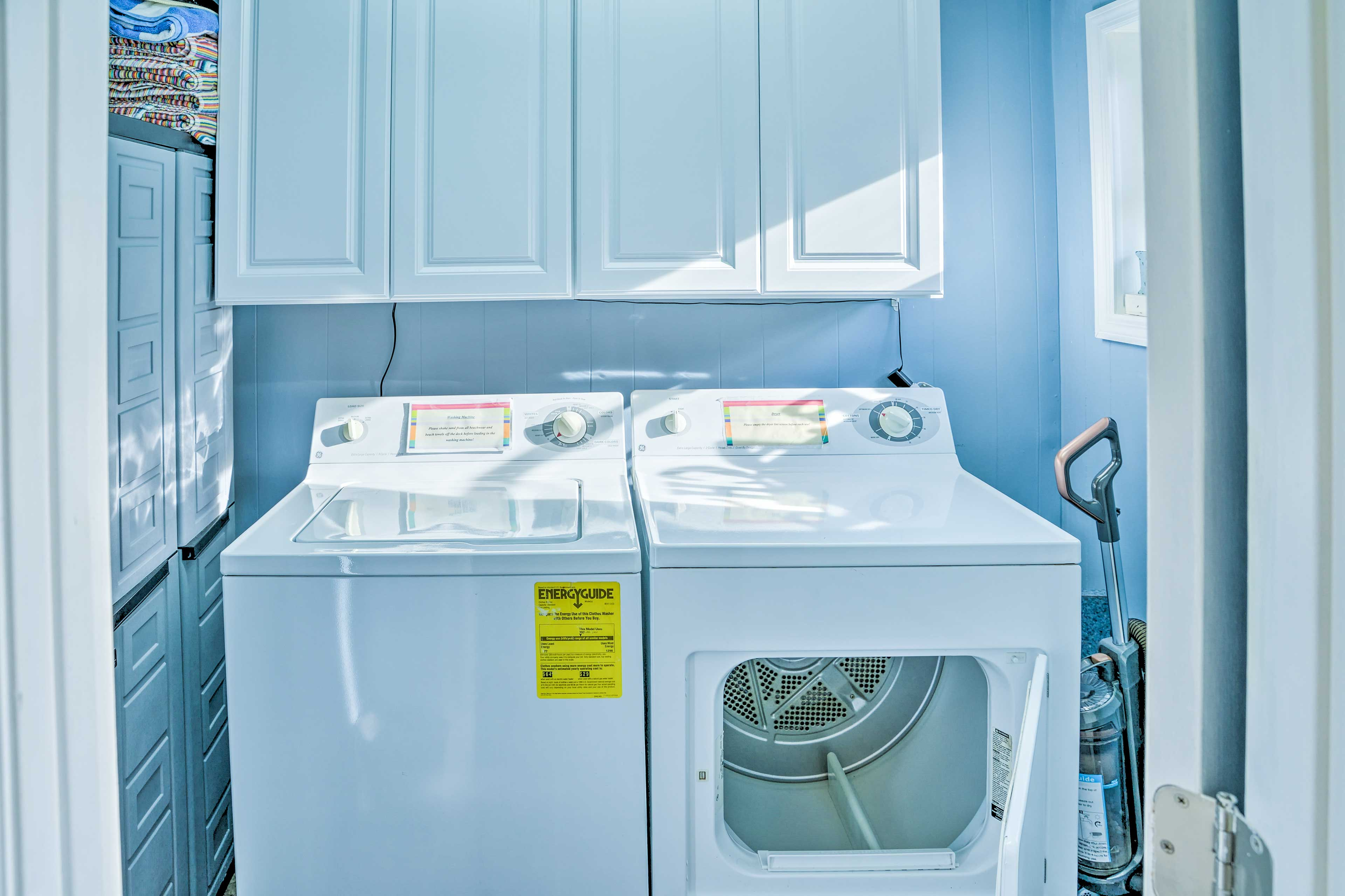 Keep your wardrobe fresh when you use these in-unit laundry machines.