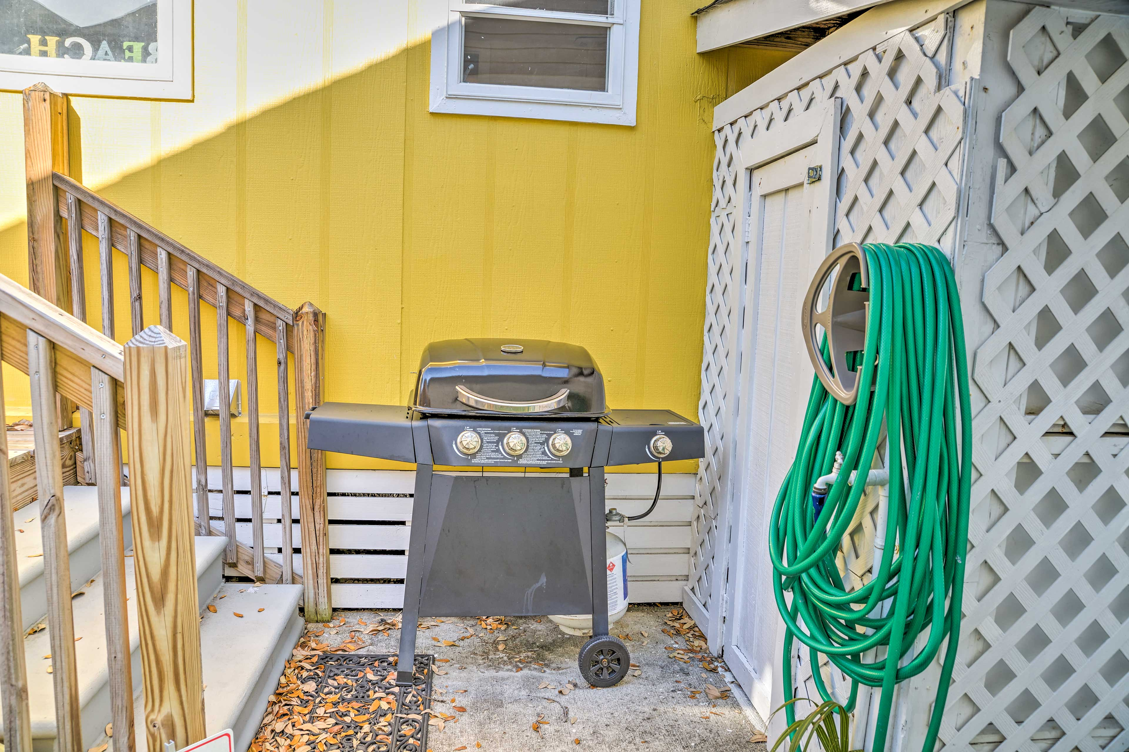 Heat up the catch of the day on this gas grill!