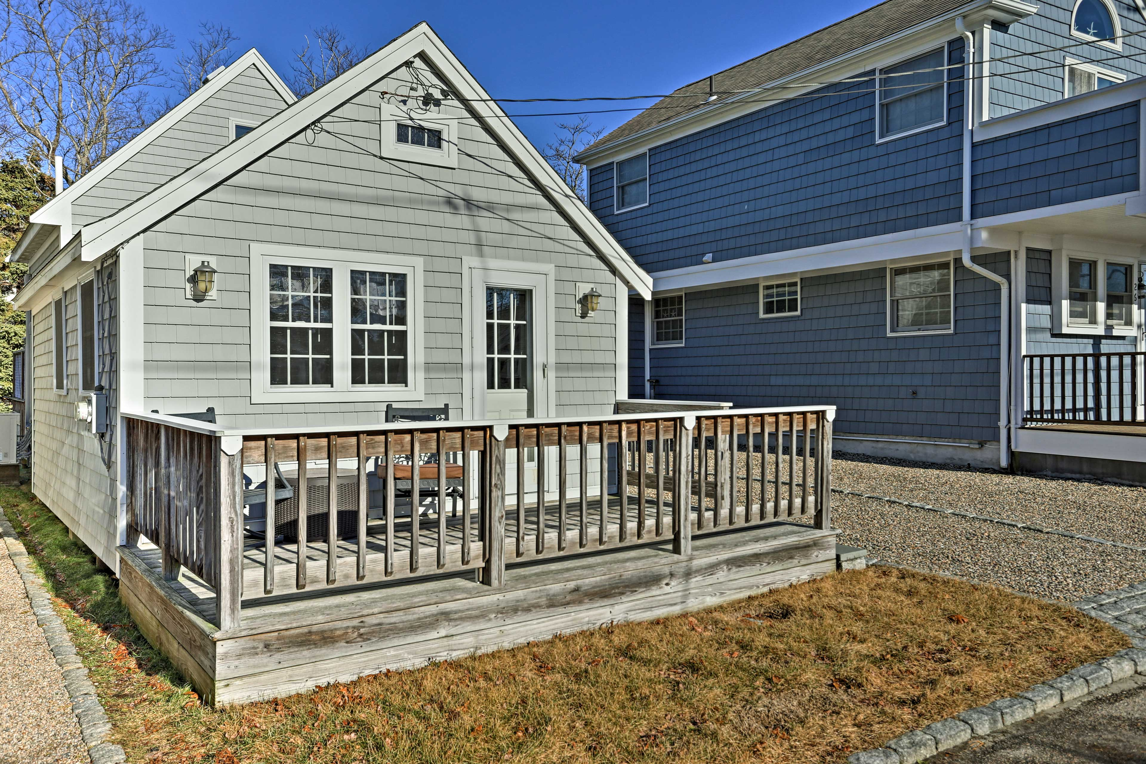 Find your next coastal escape at this vacation rental home in Mashpee!