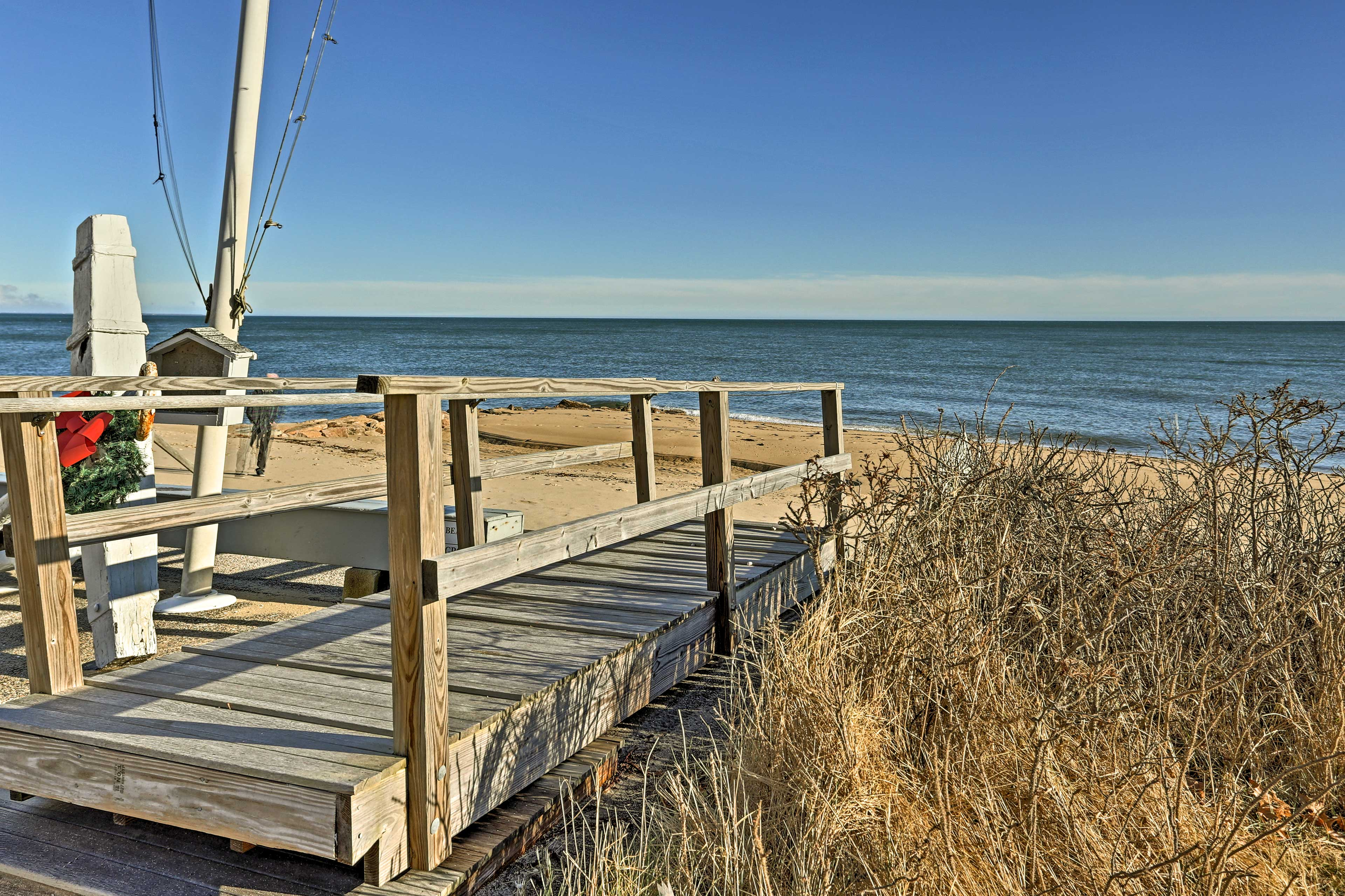 You'll find the shores of Nantucket sound just steps away from the property!