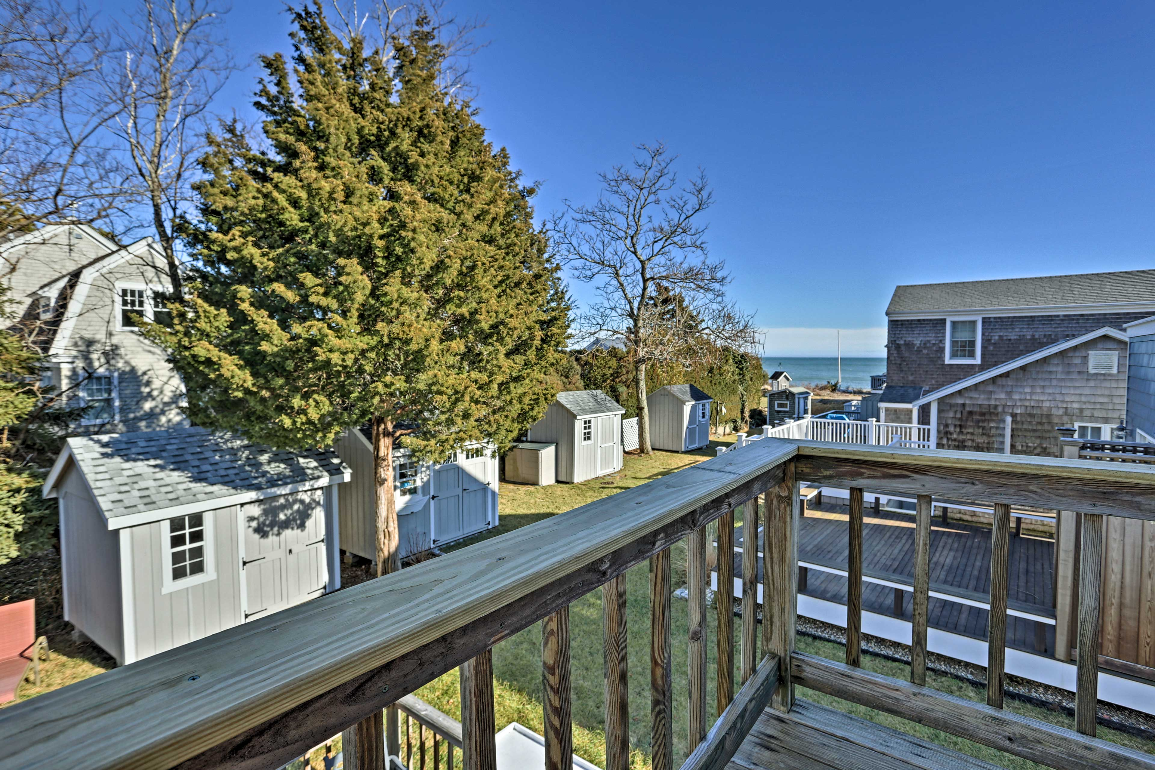 Enjoy Nantucket views from the comfort of your second-floor perch.