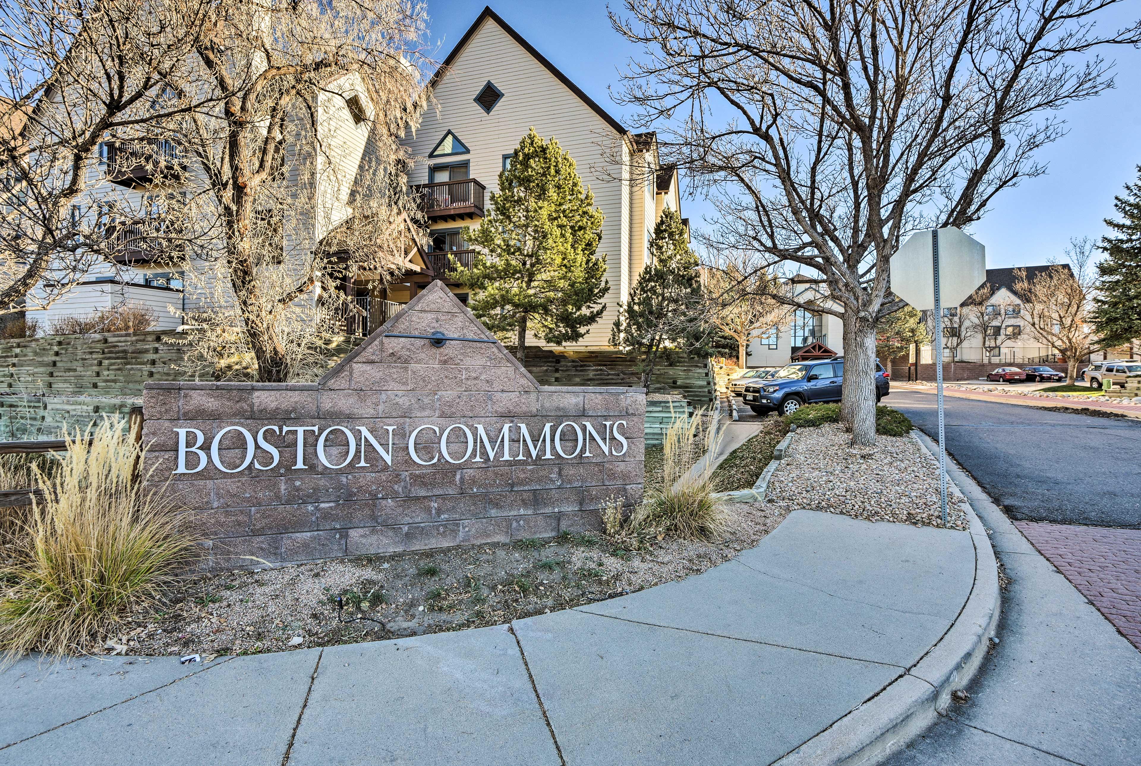 This Denver Tech Center studio boasts a location by the light rail!
