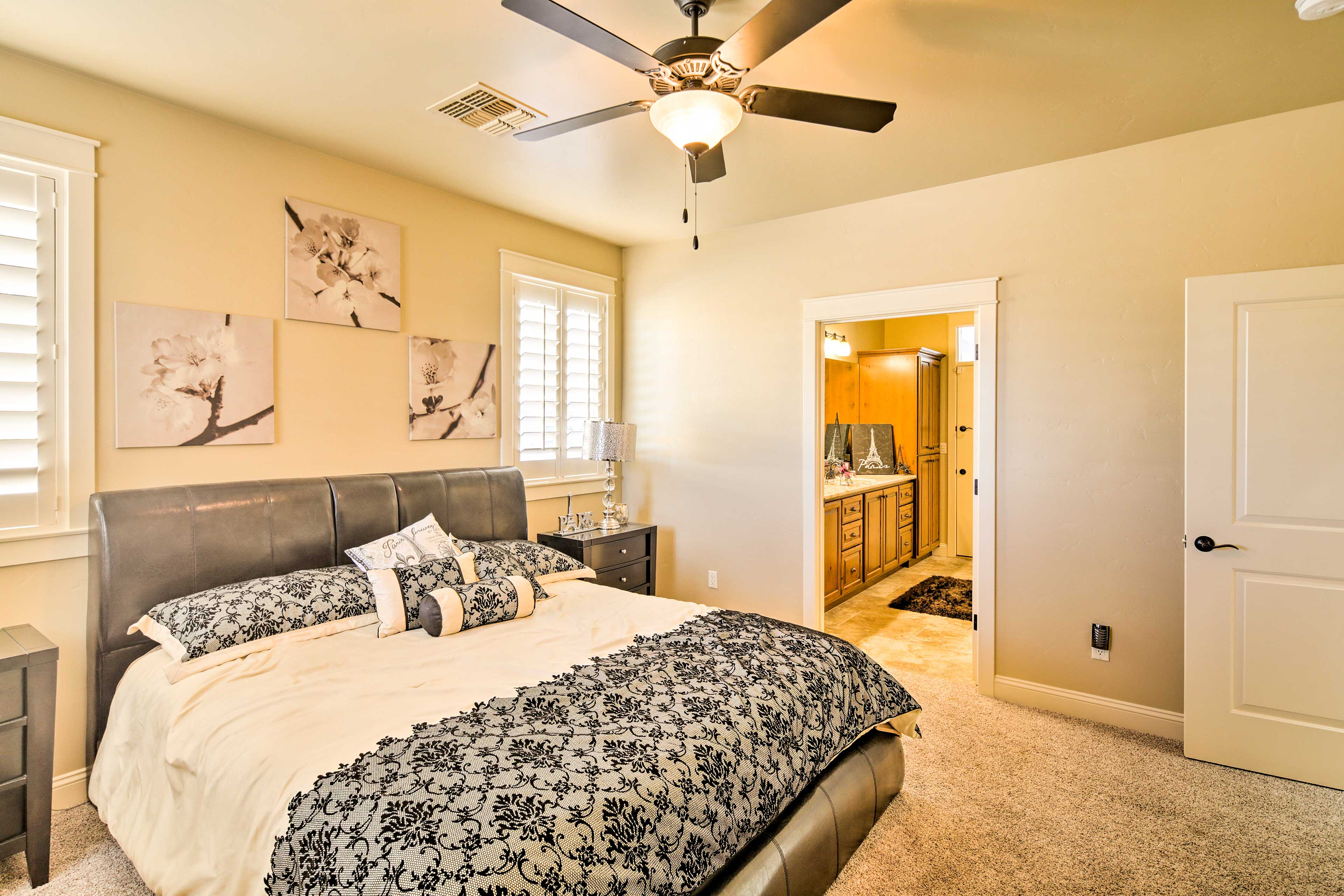 Another king bed is available in the second master bedroom.