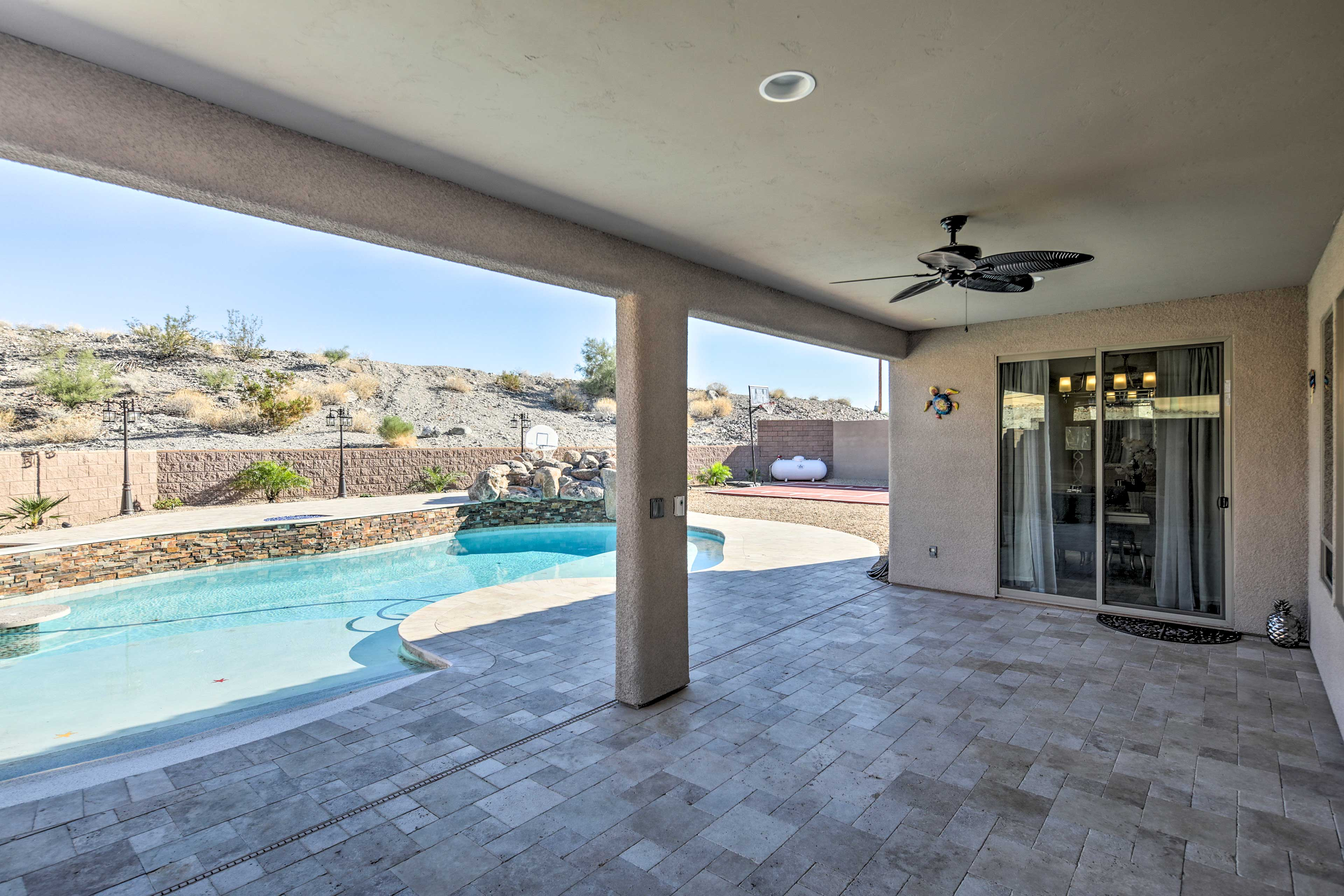 Step outside to your private patio area to breathe in the fresh air!