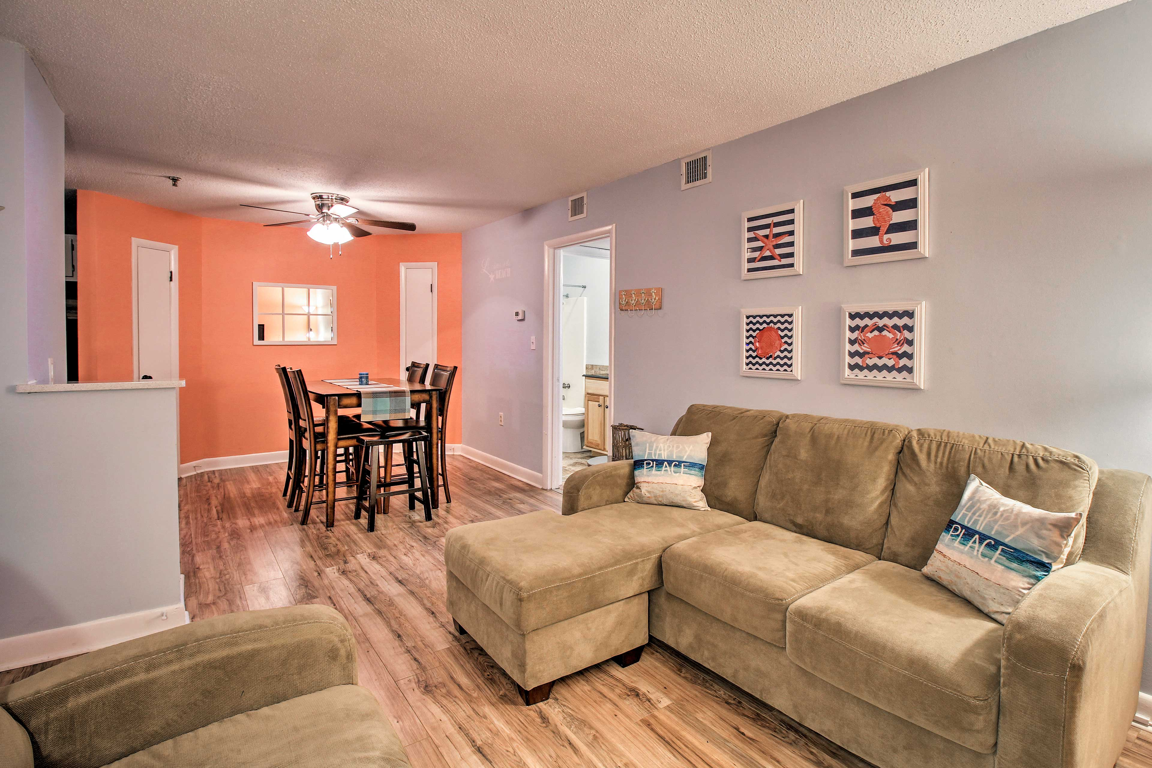 The open-concept floor plan makes this home feel spacious and inviting.
