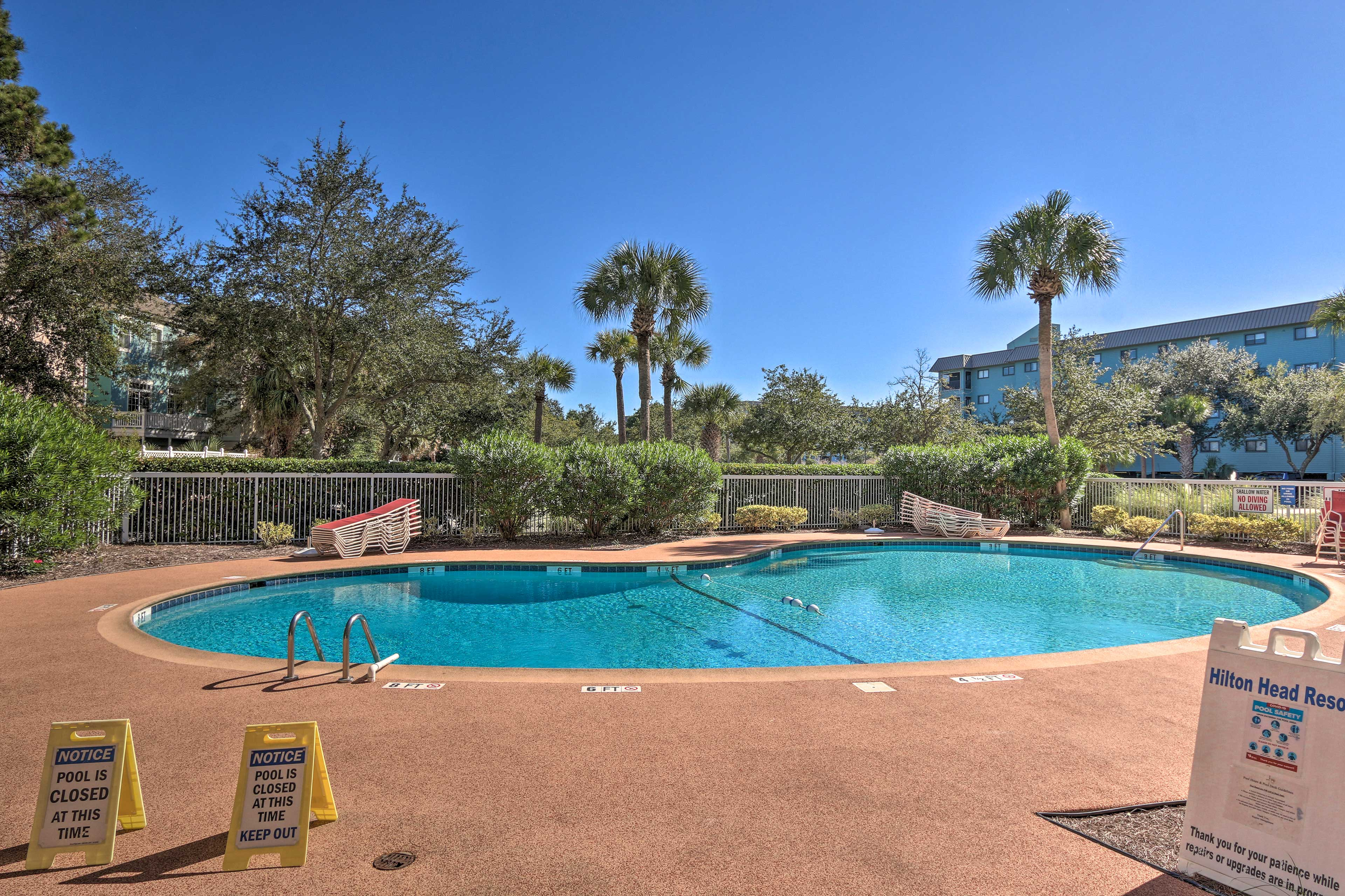When the weather's just right, head outside to dive into the outdoor pool!