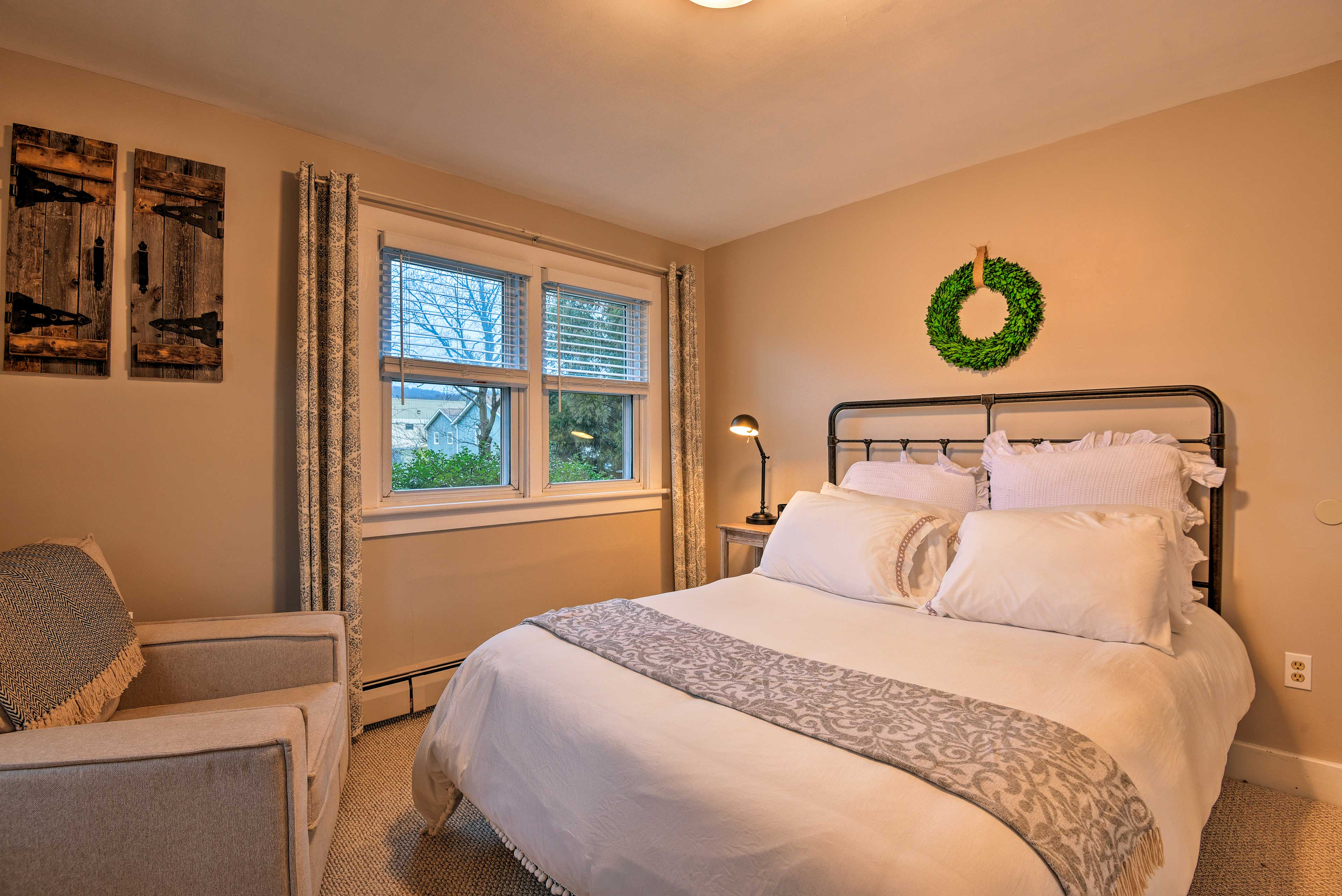 Three of 4 bedrooms feature a queen-sized bed.