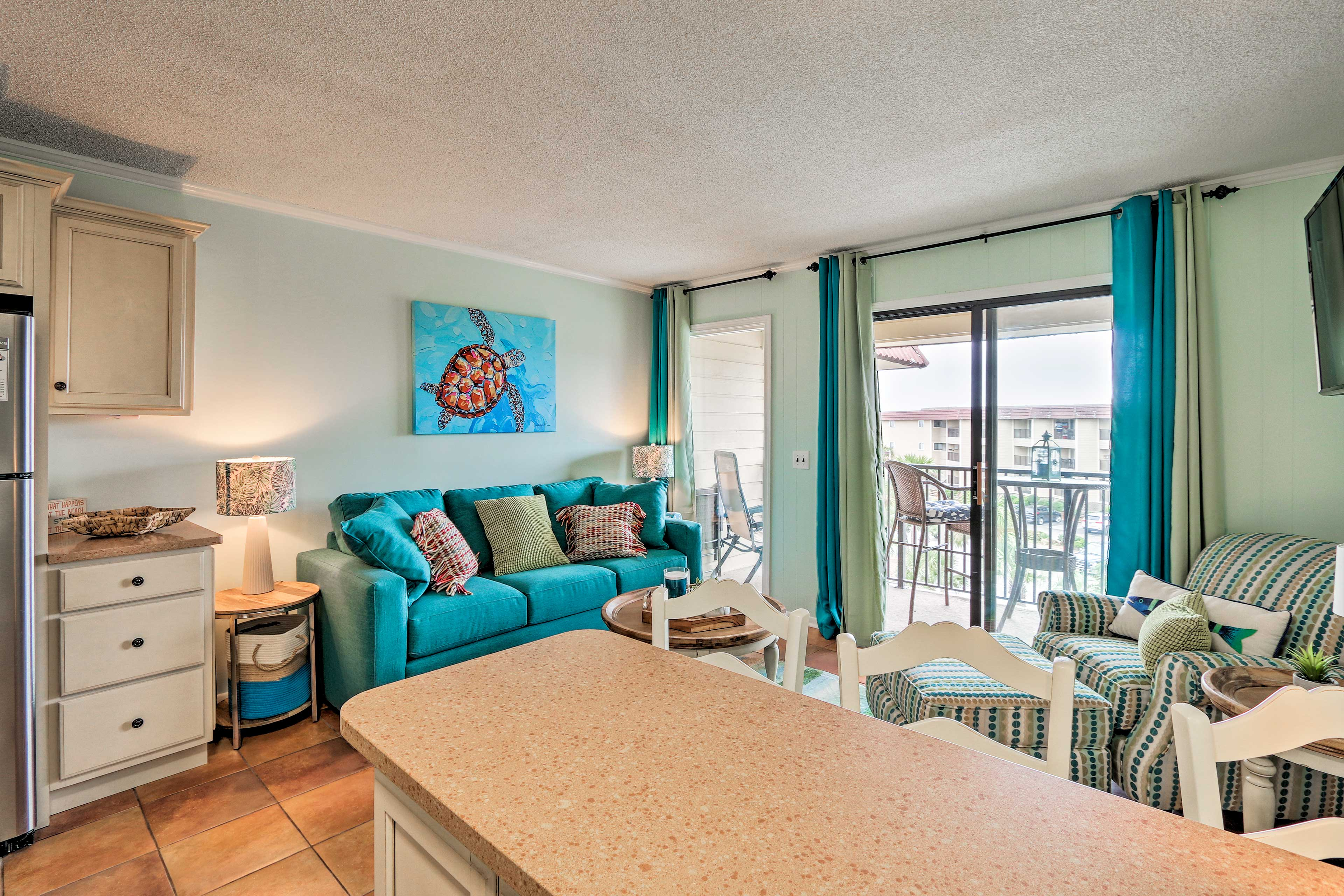 This cozy condo offers all the comforts of home.