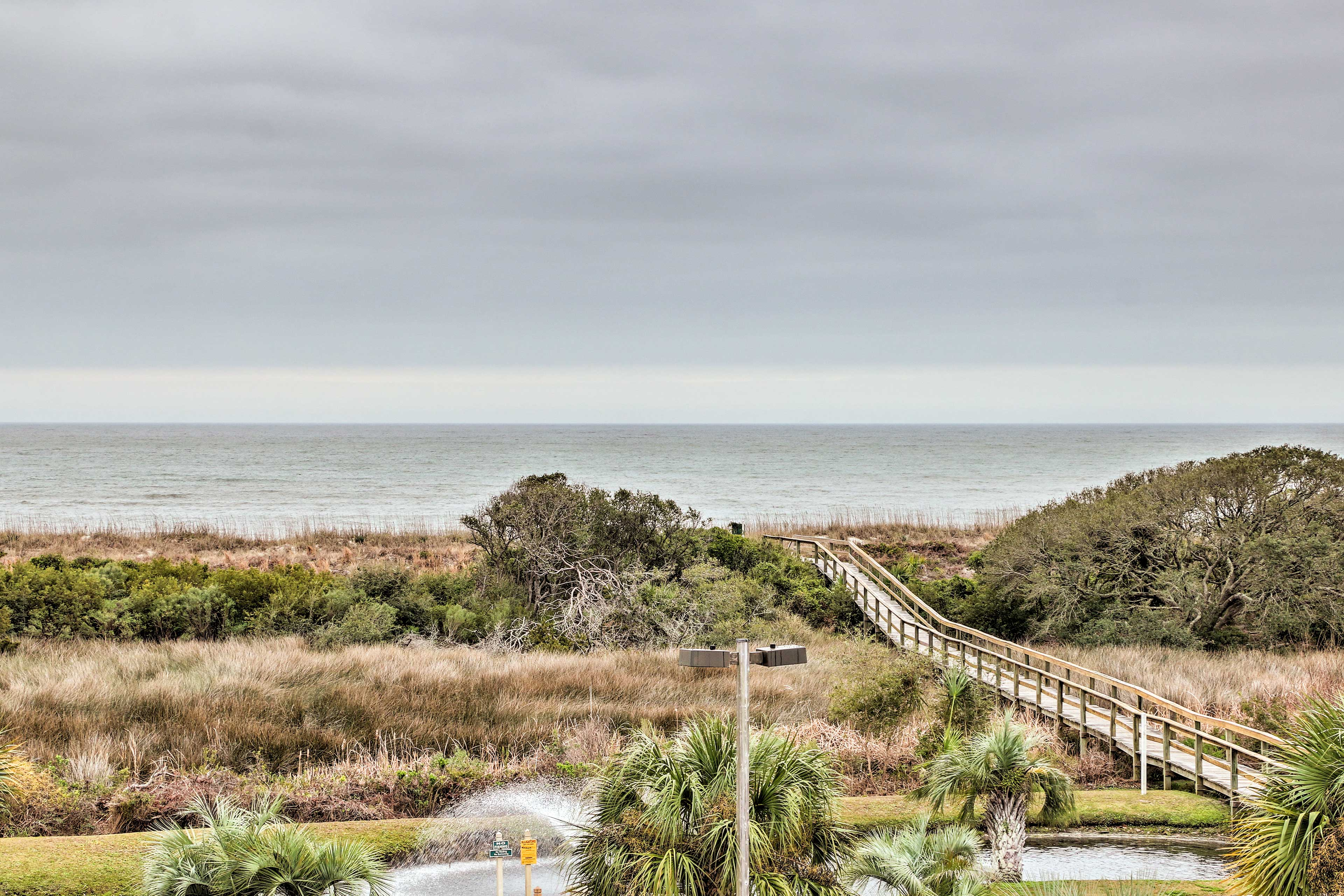 You can see the boardwalk from your condo!