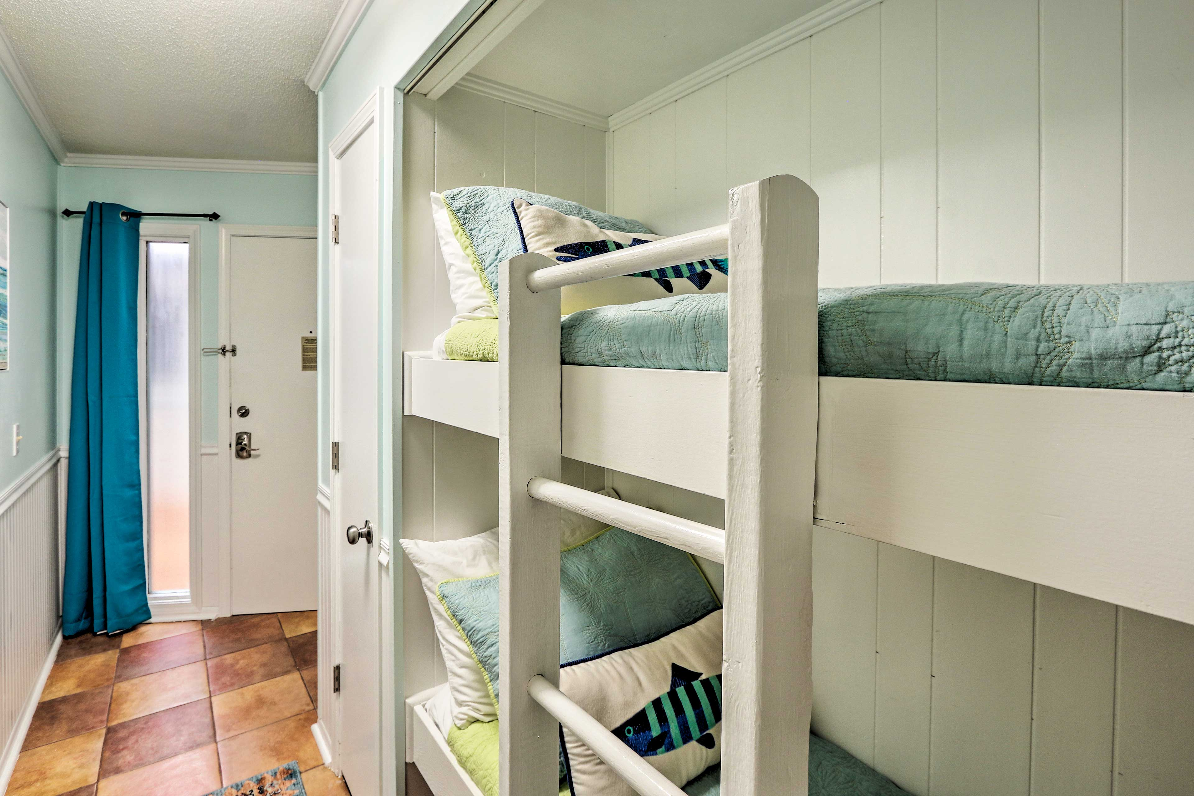 The hallway hideaway twin-over-twin bunk bed is perfect for the kids.