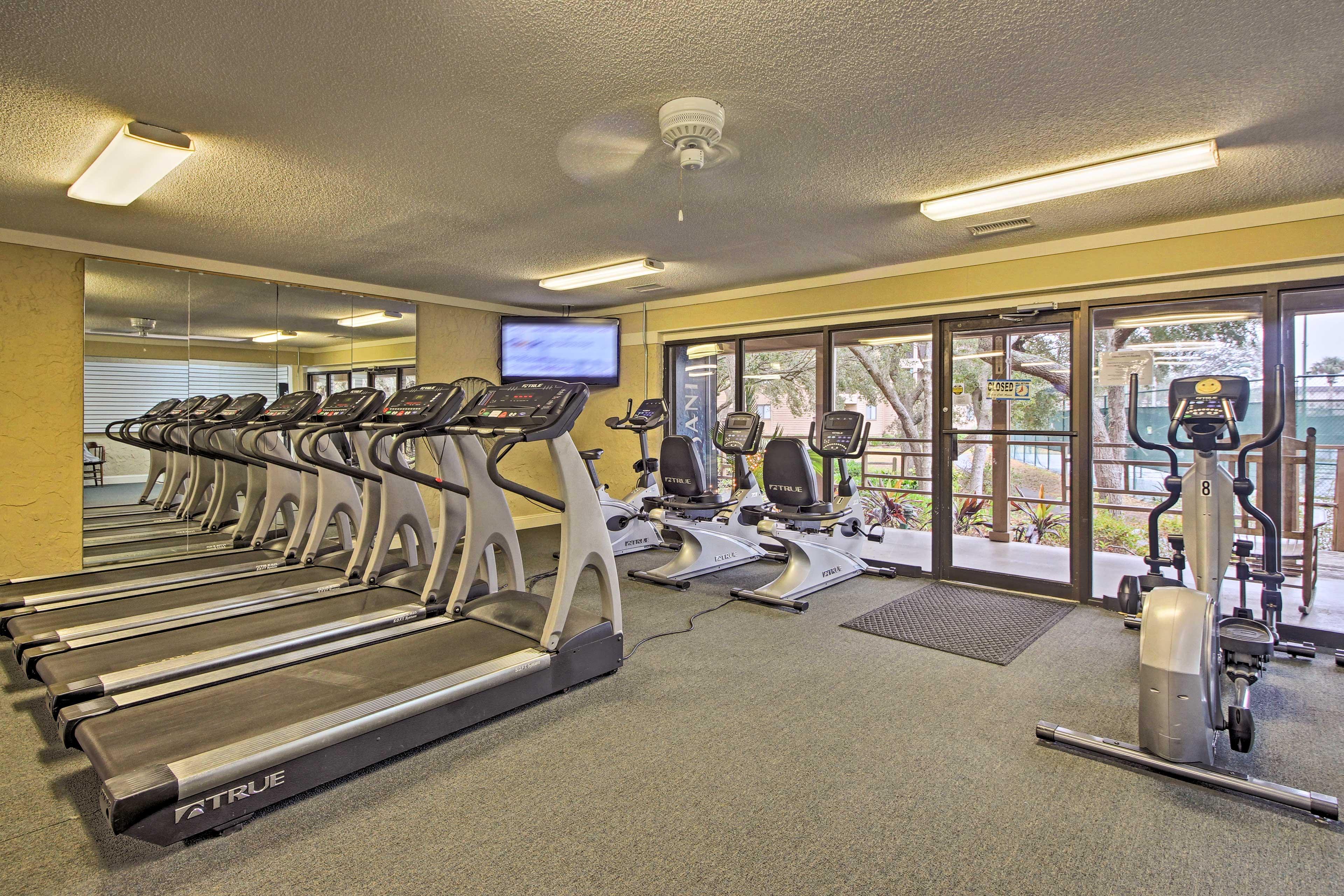 Break a sweat in the fitness center.