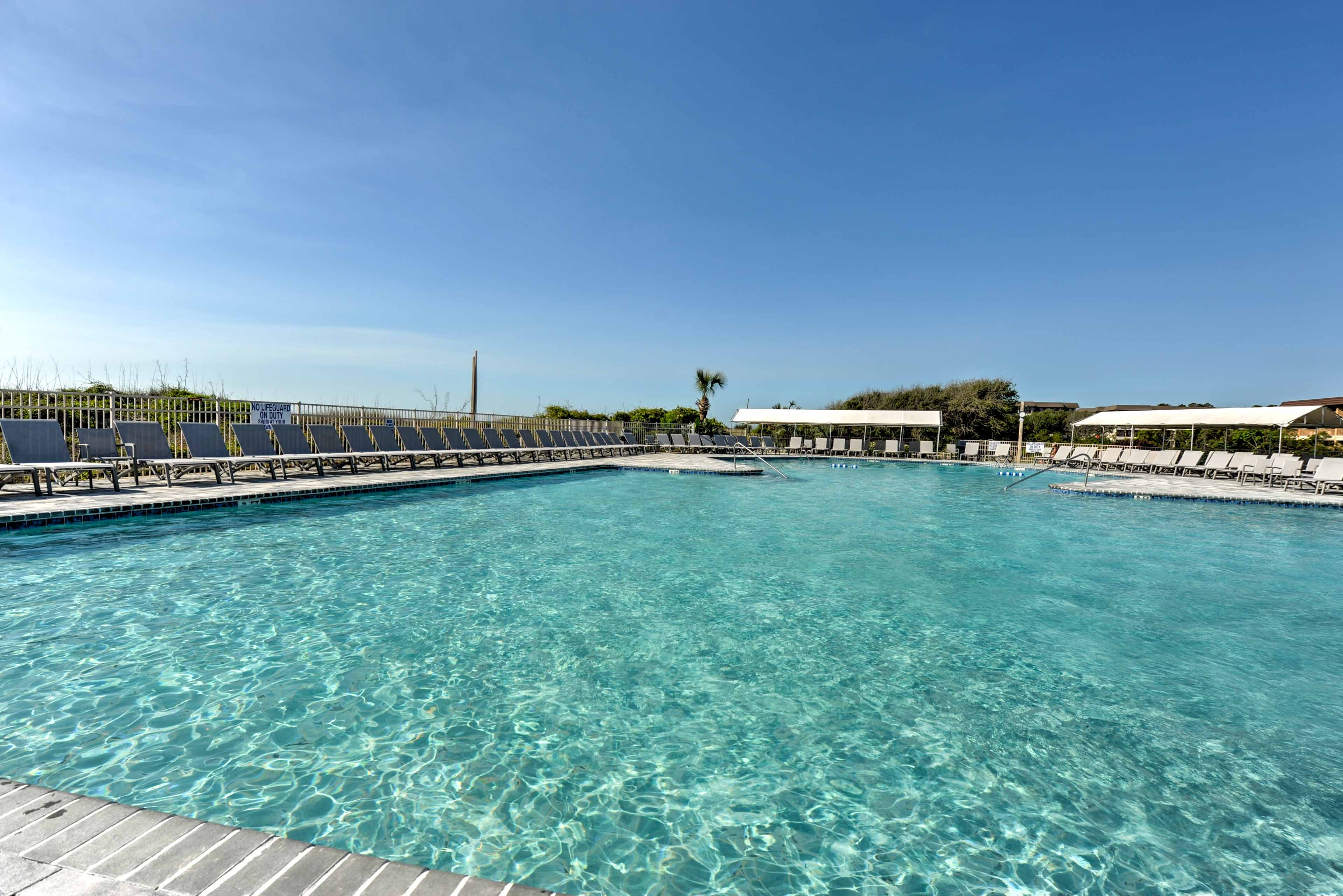 You'll have access to unbeatable community amenities like this outdoor pool.