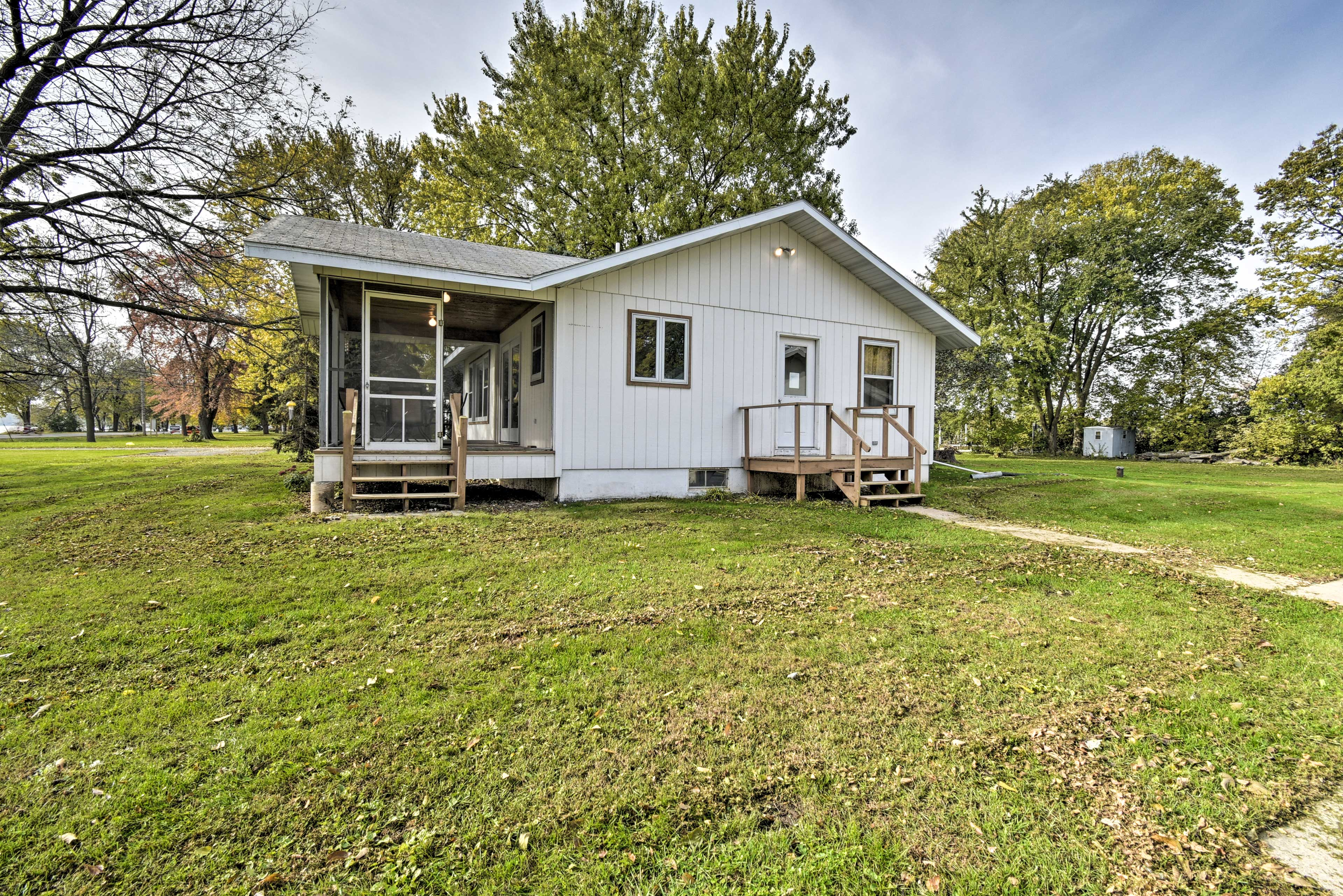 You'll love the large grass yard surrounding the property.