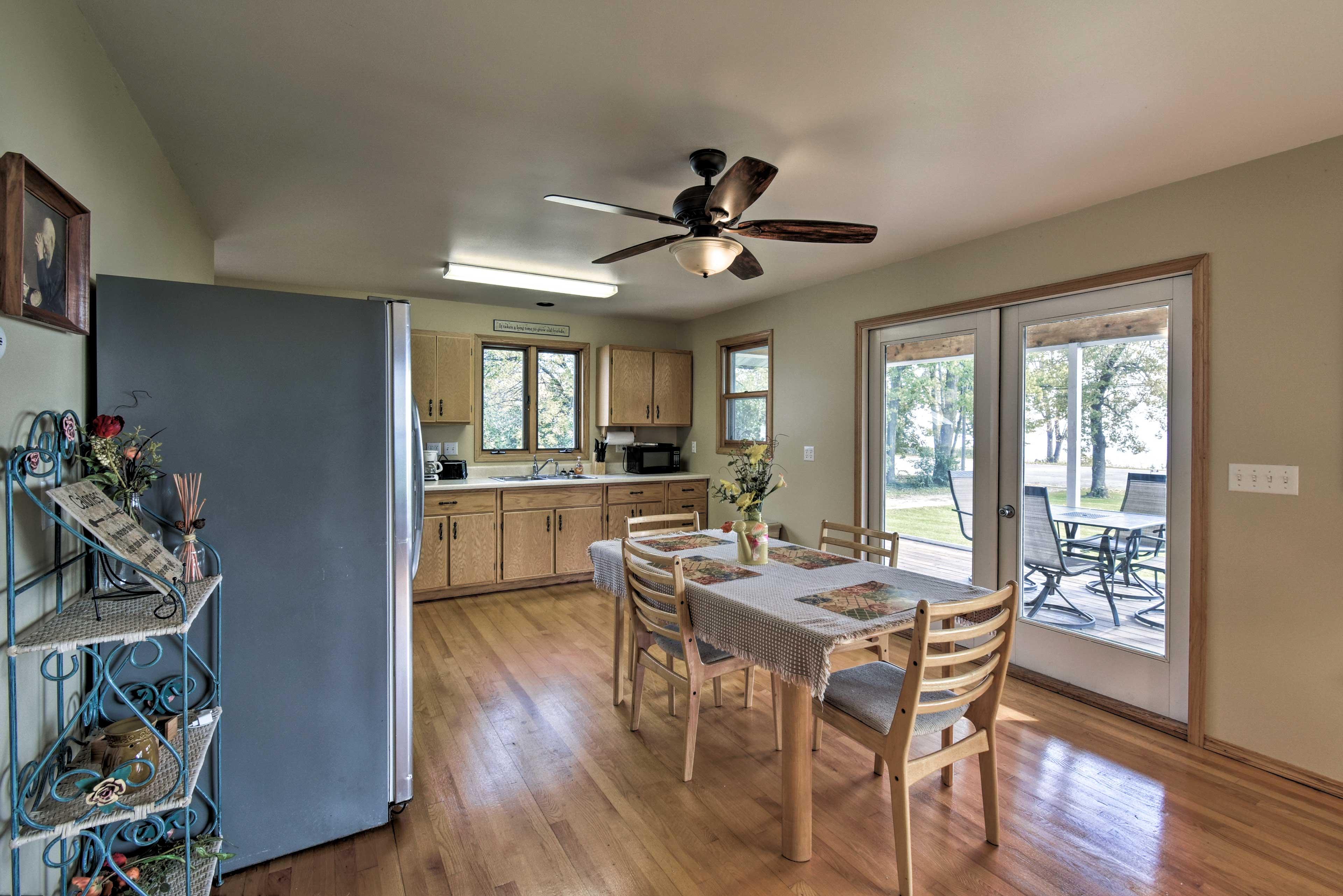 Sleek hardwood floors flow throughout the home.