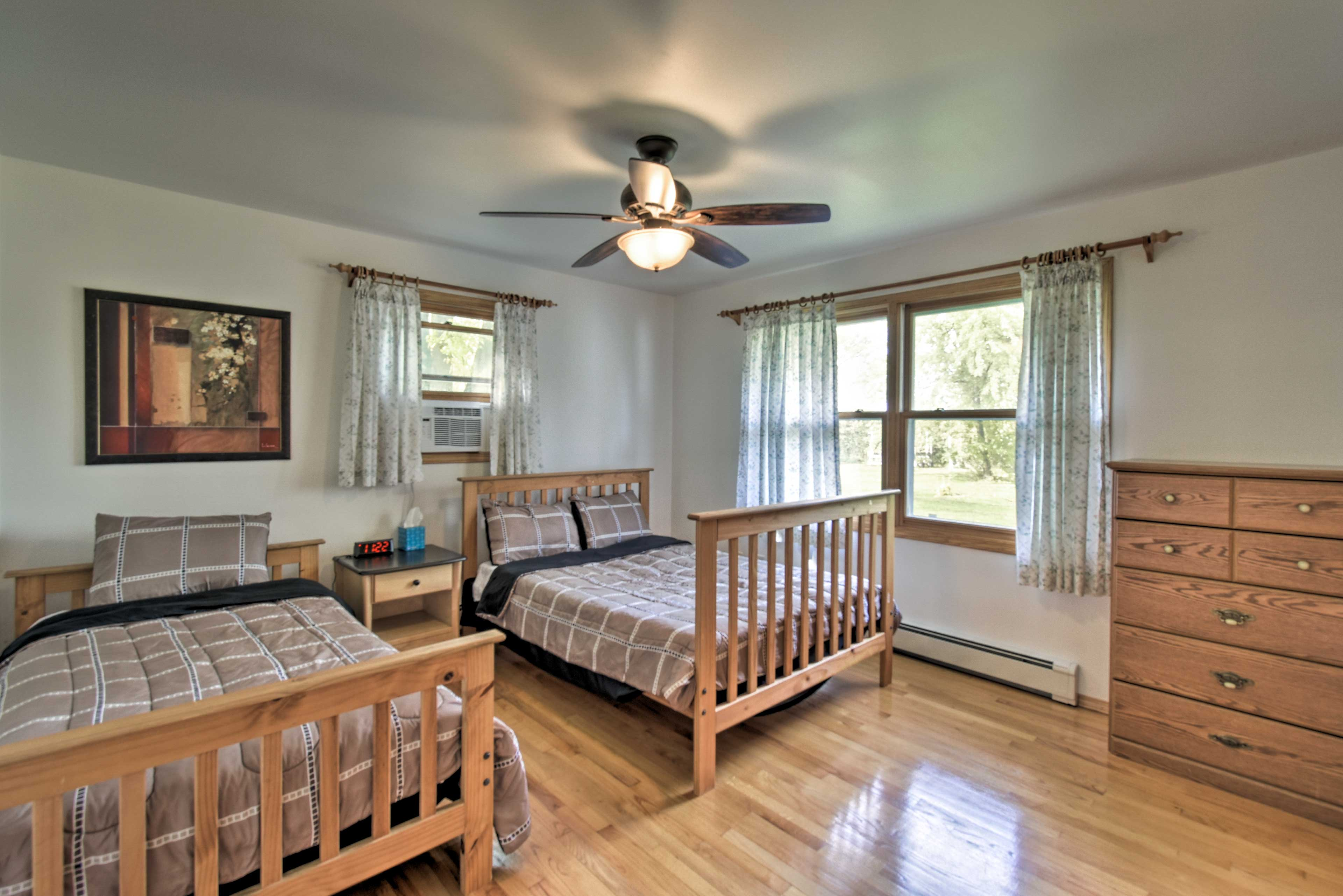 Retreat to one of 2 bedrooms for a peaceful slumber.