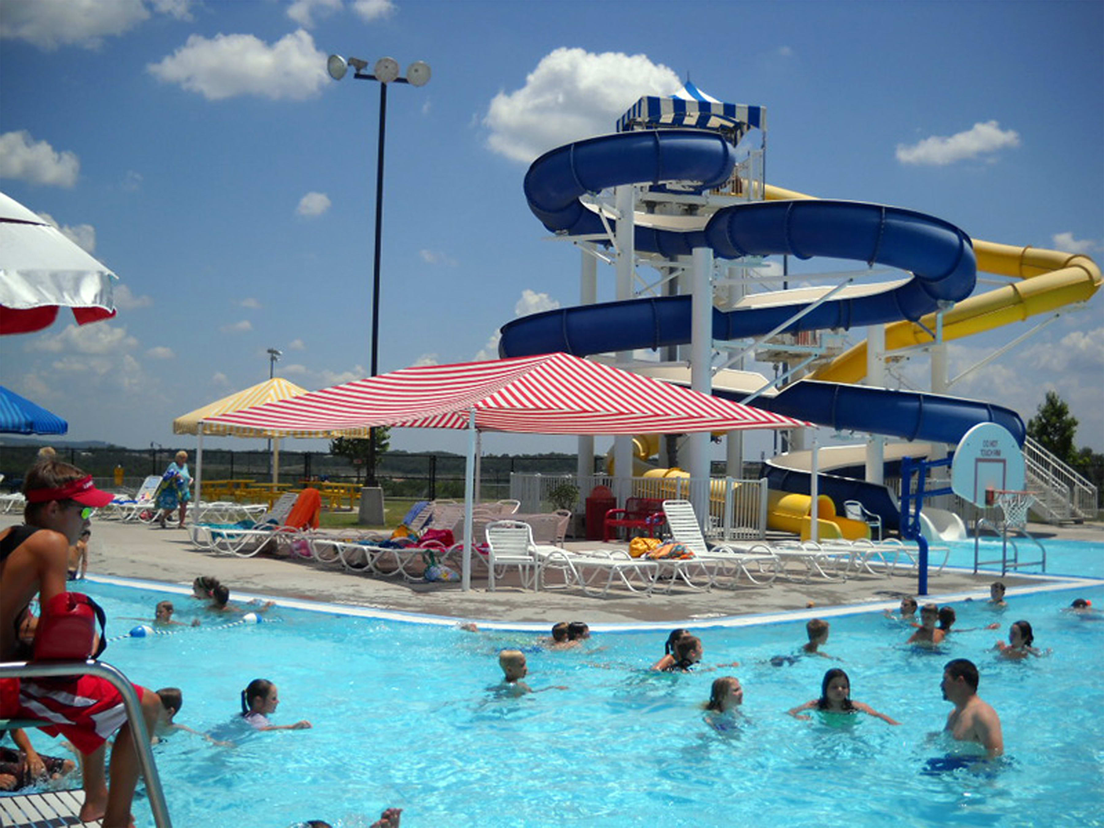 Your kids will love the water slides!